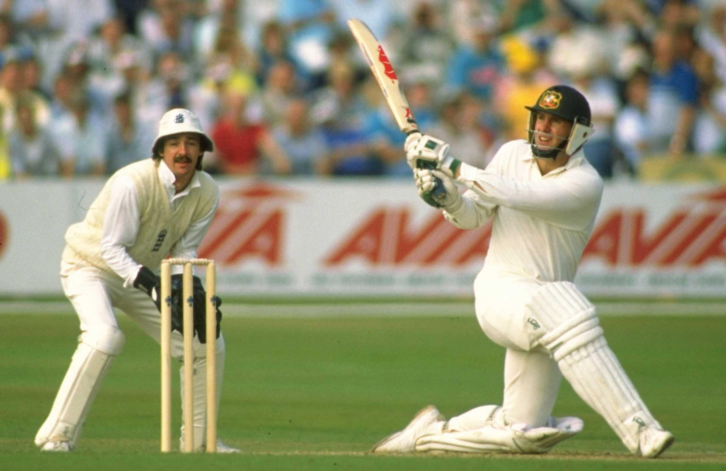 Taylor hits out during his maiden Ashes in 1989 // Getty