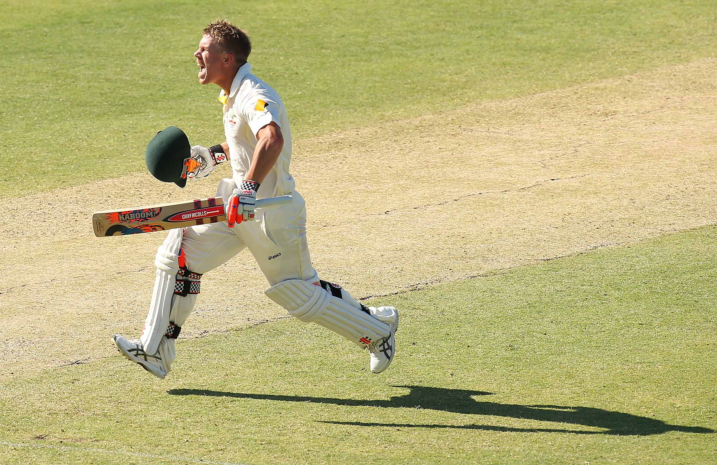 Ton up for Warner at the WACA, 2013 // Getty