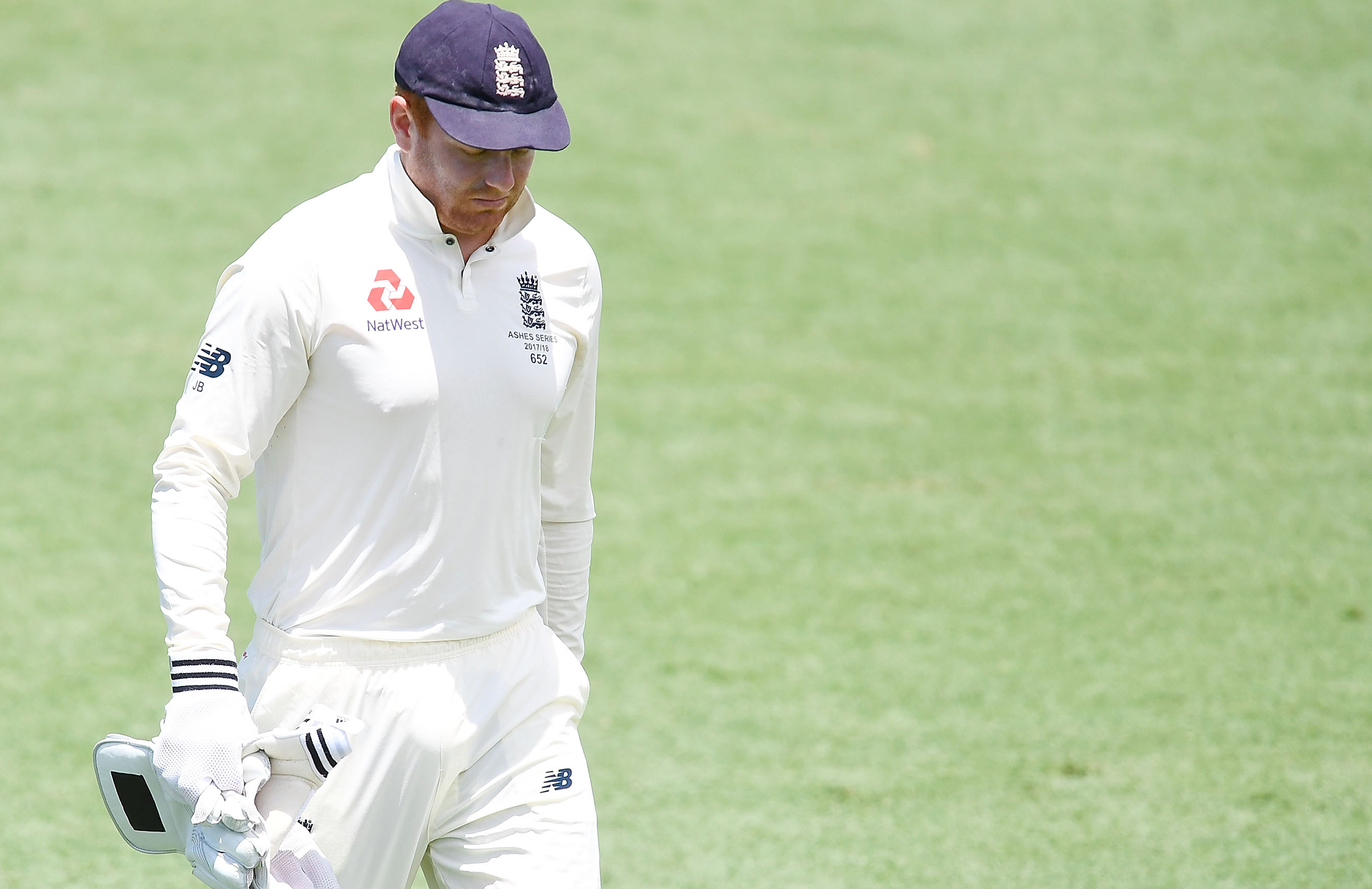 Bairstow leaves the field // Getty