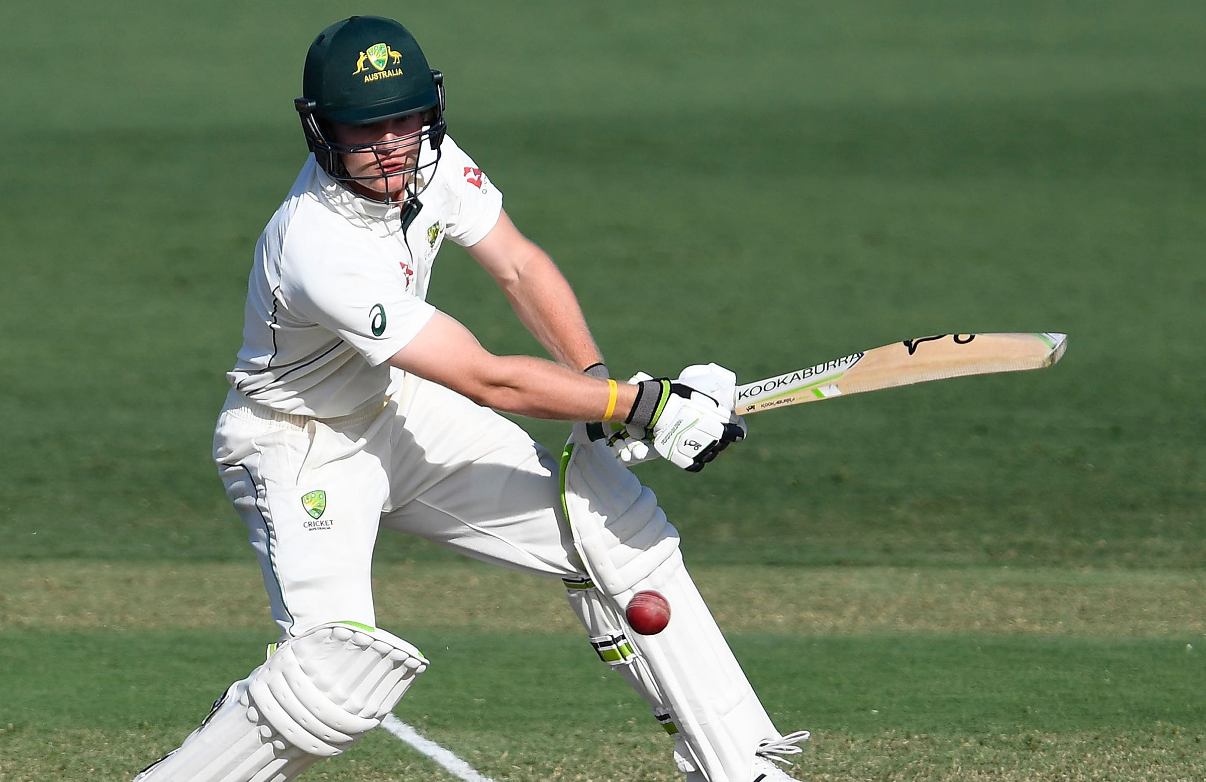 Pucovski cuts for the CA XI in a tour match against England last week // Getty