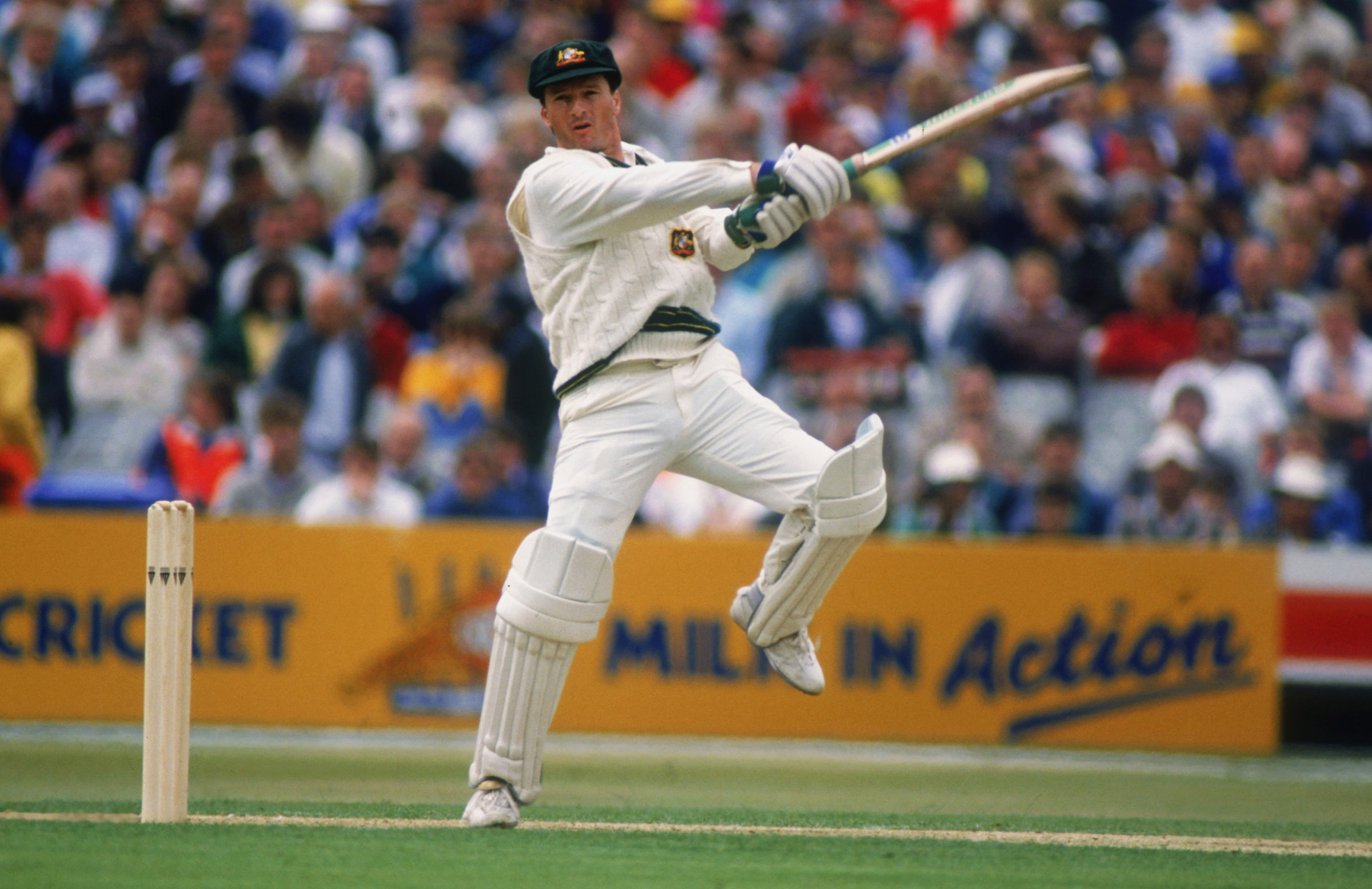 Steve Waugh hits out during his 177no innings in Headingley, Leeds // Getty