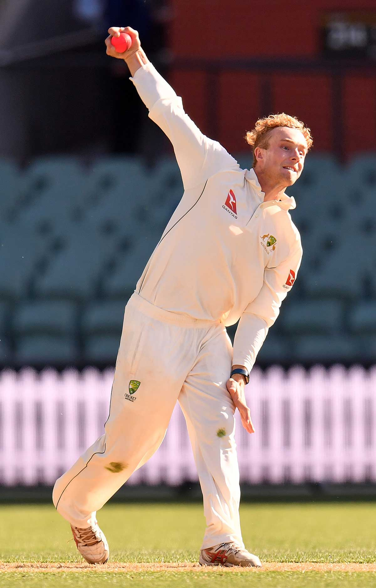 Fallins bowled 21 overs for 4-71 on day one // Getty