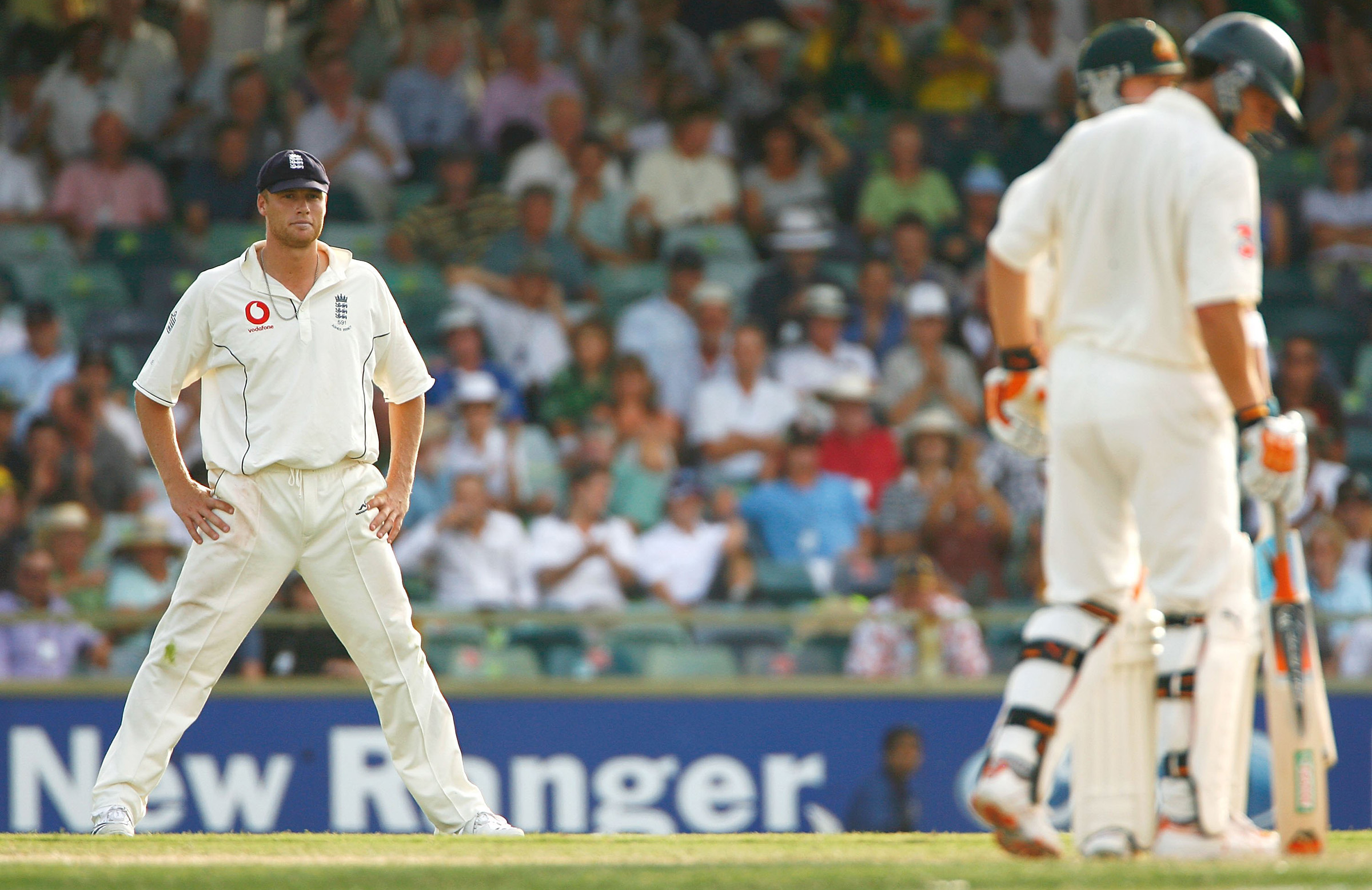 Flintoff, Gilchrist's one-time tormentor, had no answer in Perth // Getty