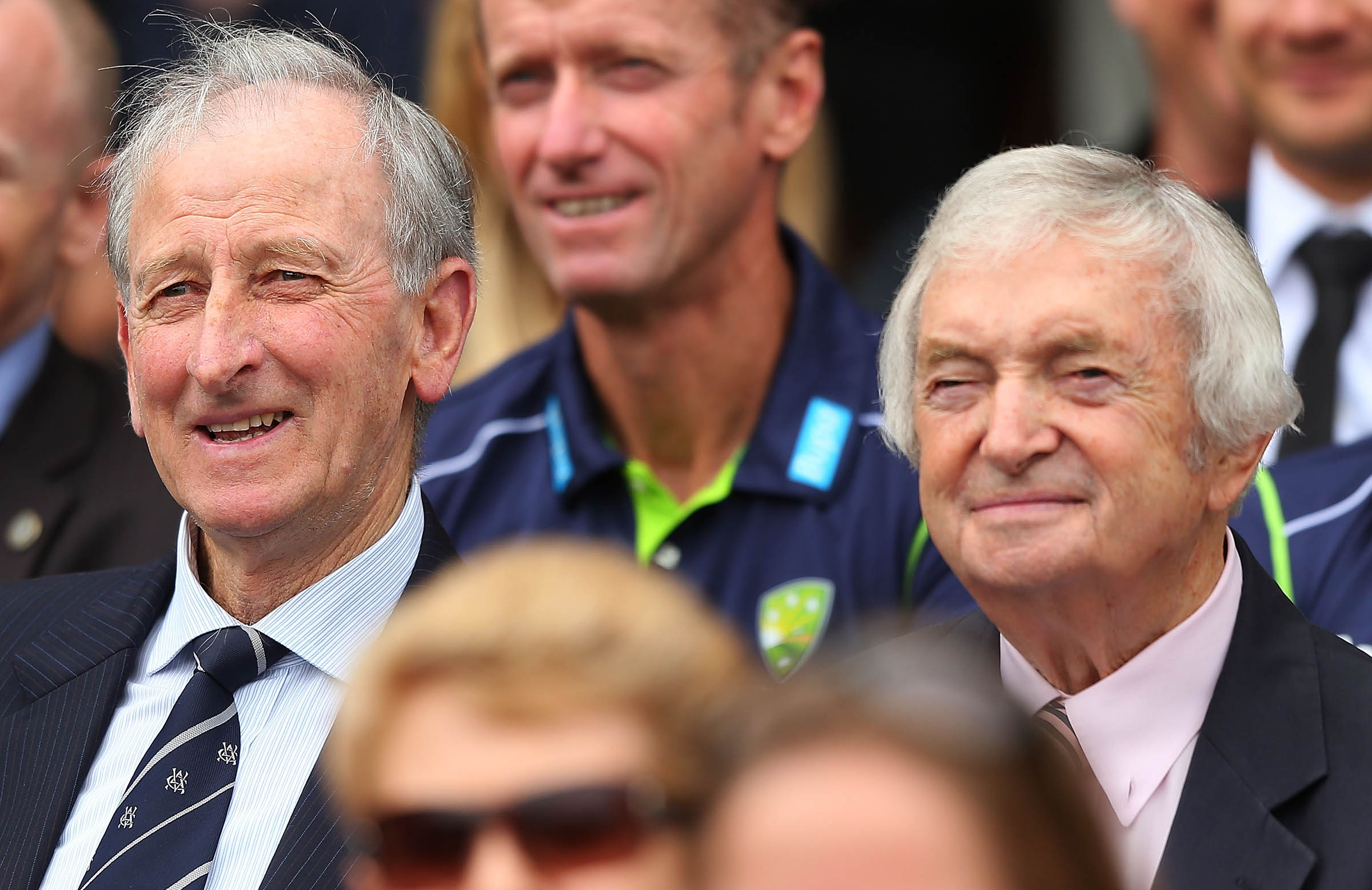 Lawry with Richie Benaud, his first Test captain // Getty