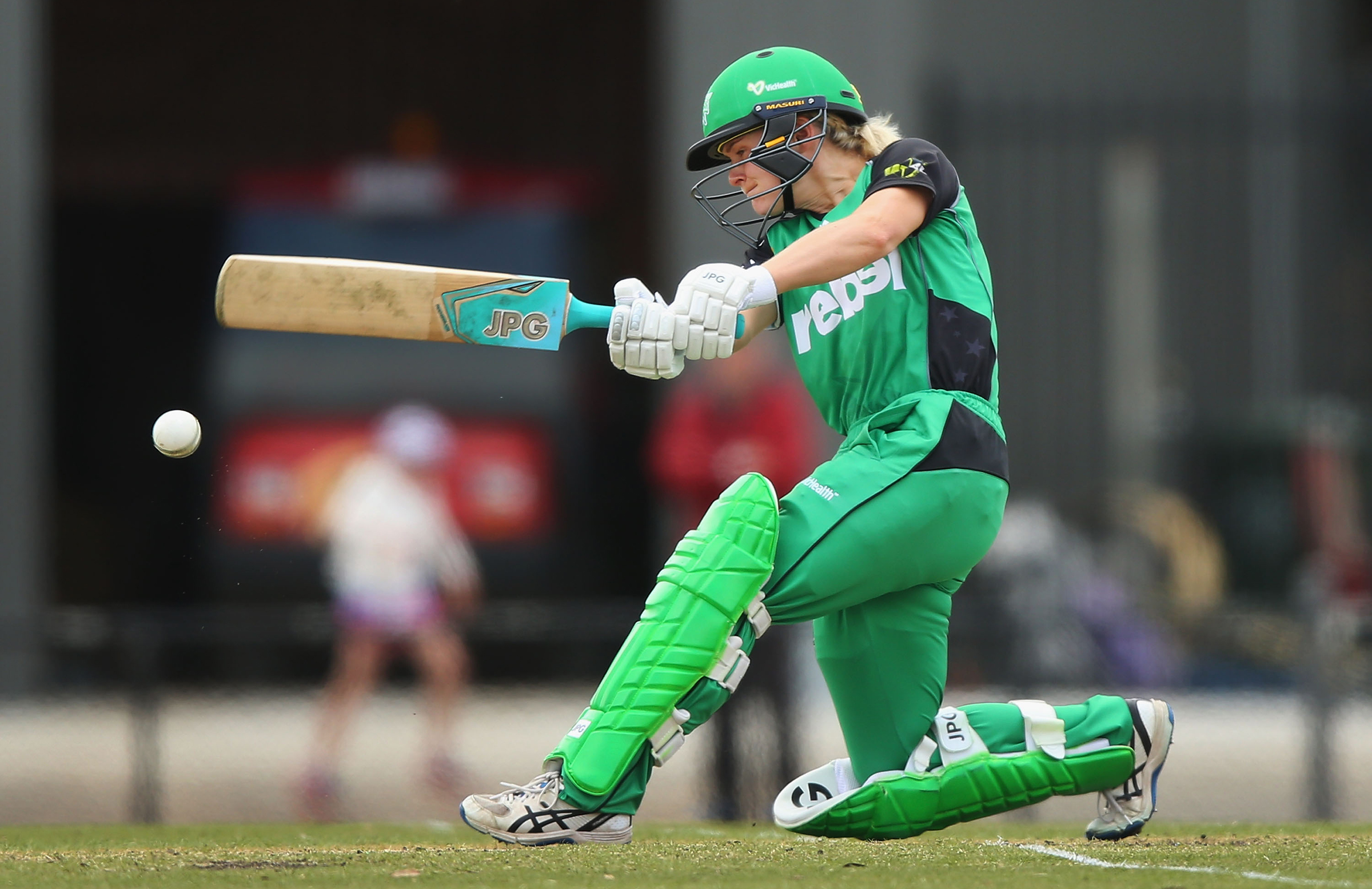 Katie Mack smashes a delivery for Melbourne Stars // Getty
