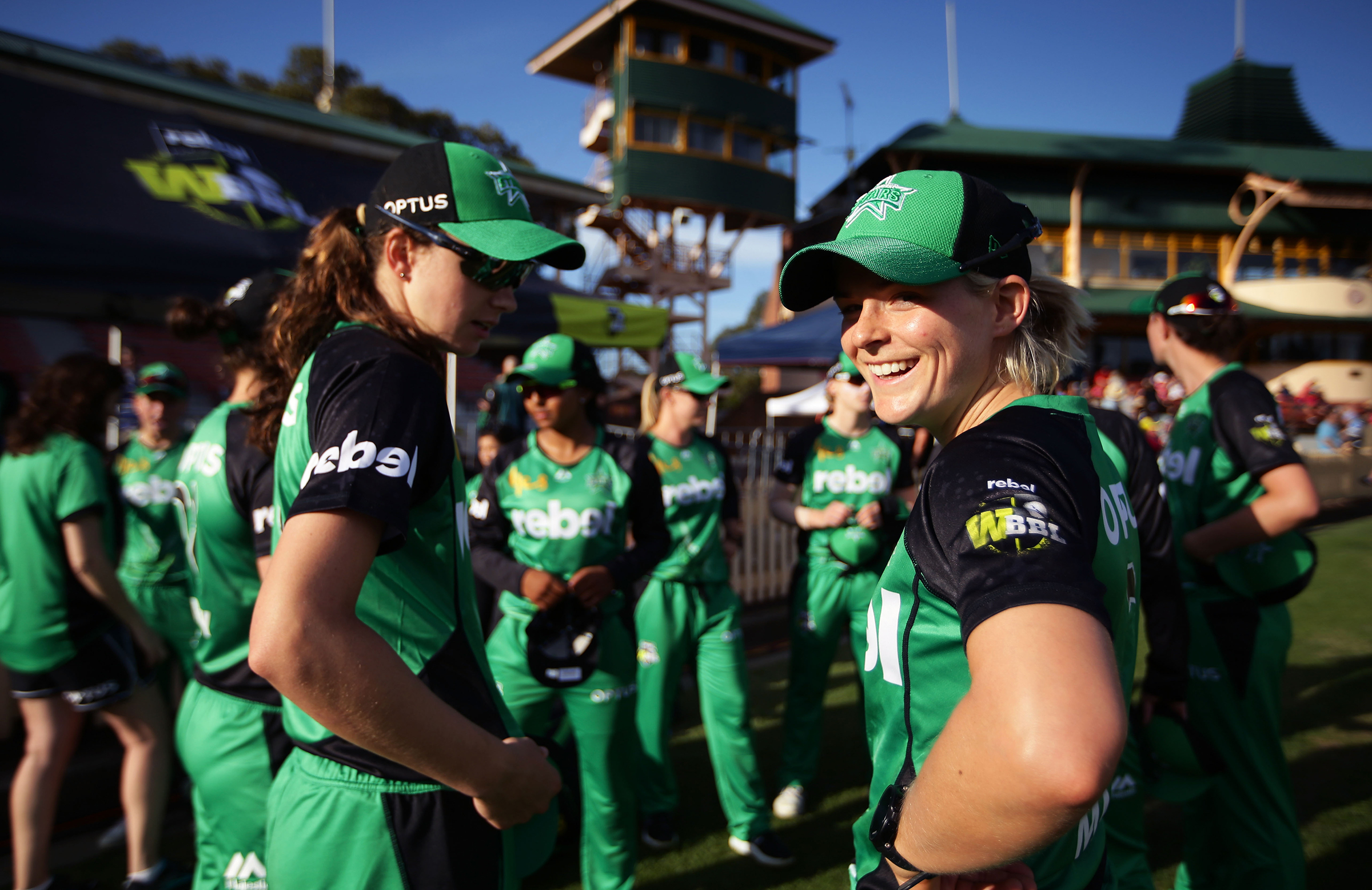 Mack looks back with a smile during the WBBL|03 Opening Weekend // Getty