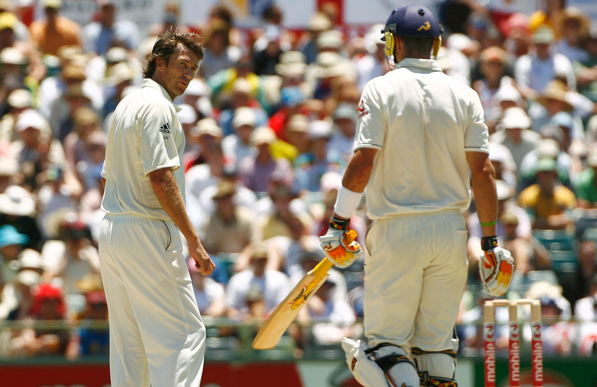 McGrath and Pietersen had a running battle during the 2006-07 series // Getty