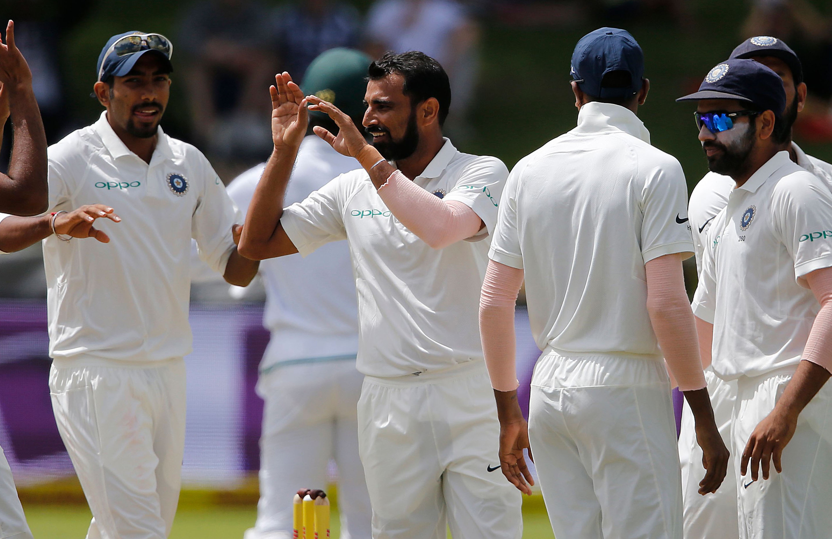 Mohammad Shami helped India rout South Africa before lunch // Getty