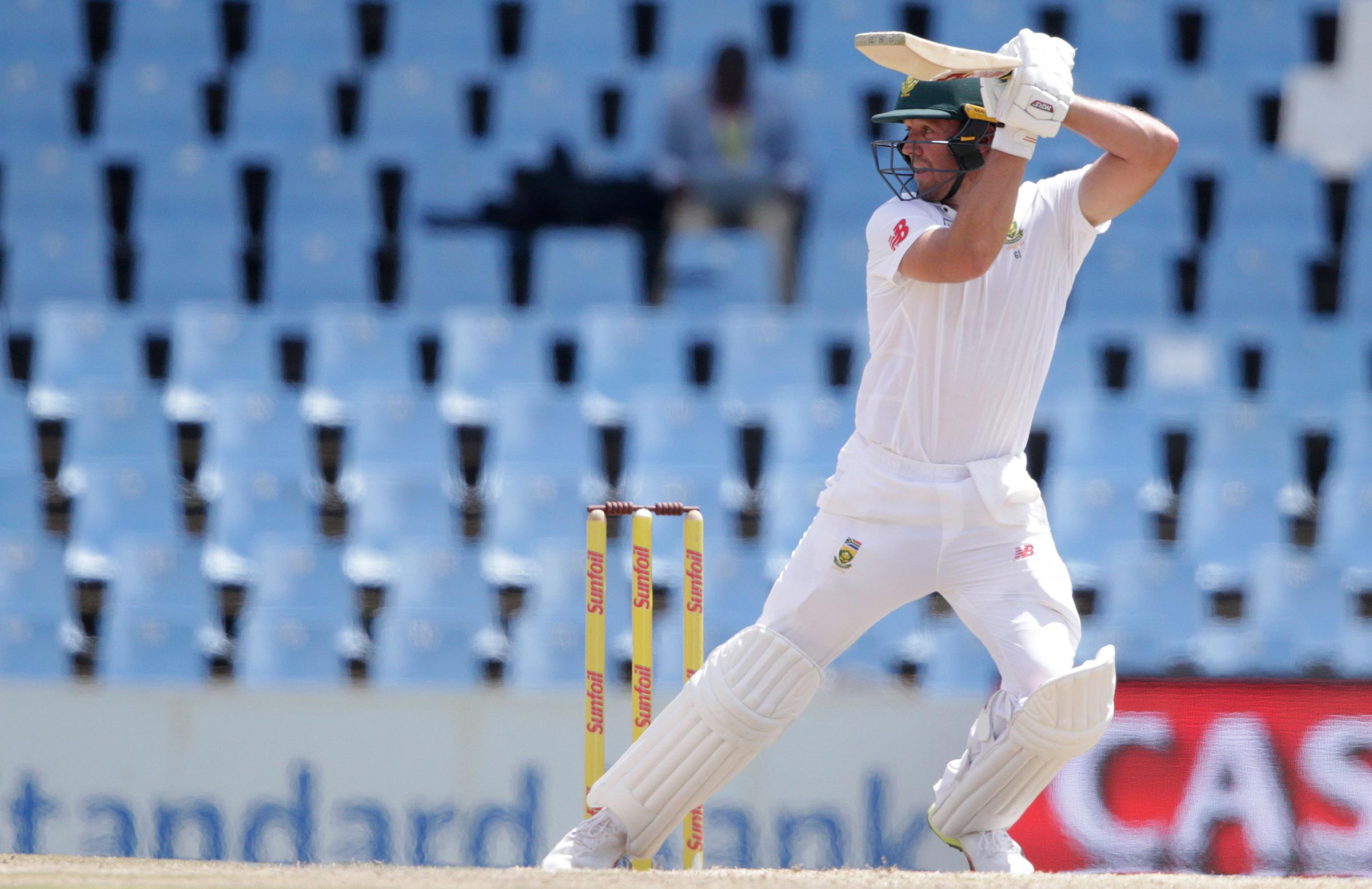 De Villiers in action on his way to 80 // Getty