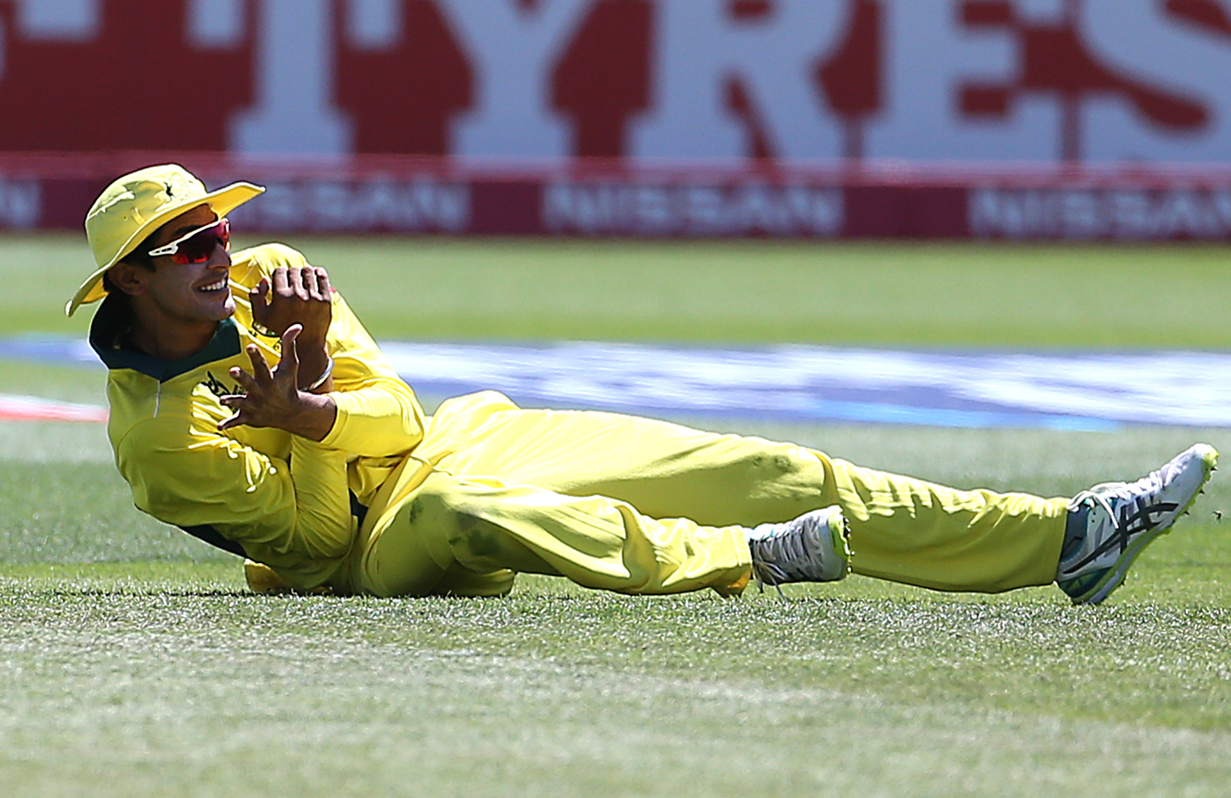 Captain Sangha top-scored and took three catches at first slip // Getty