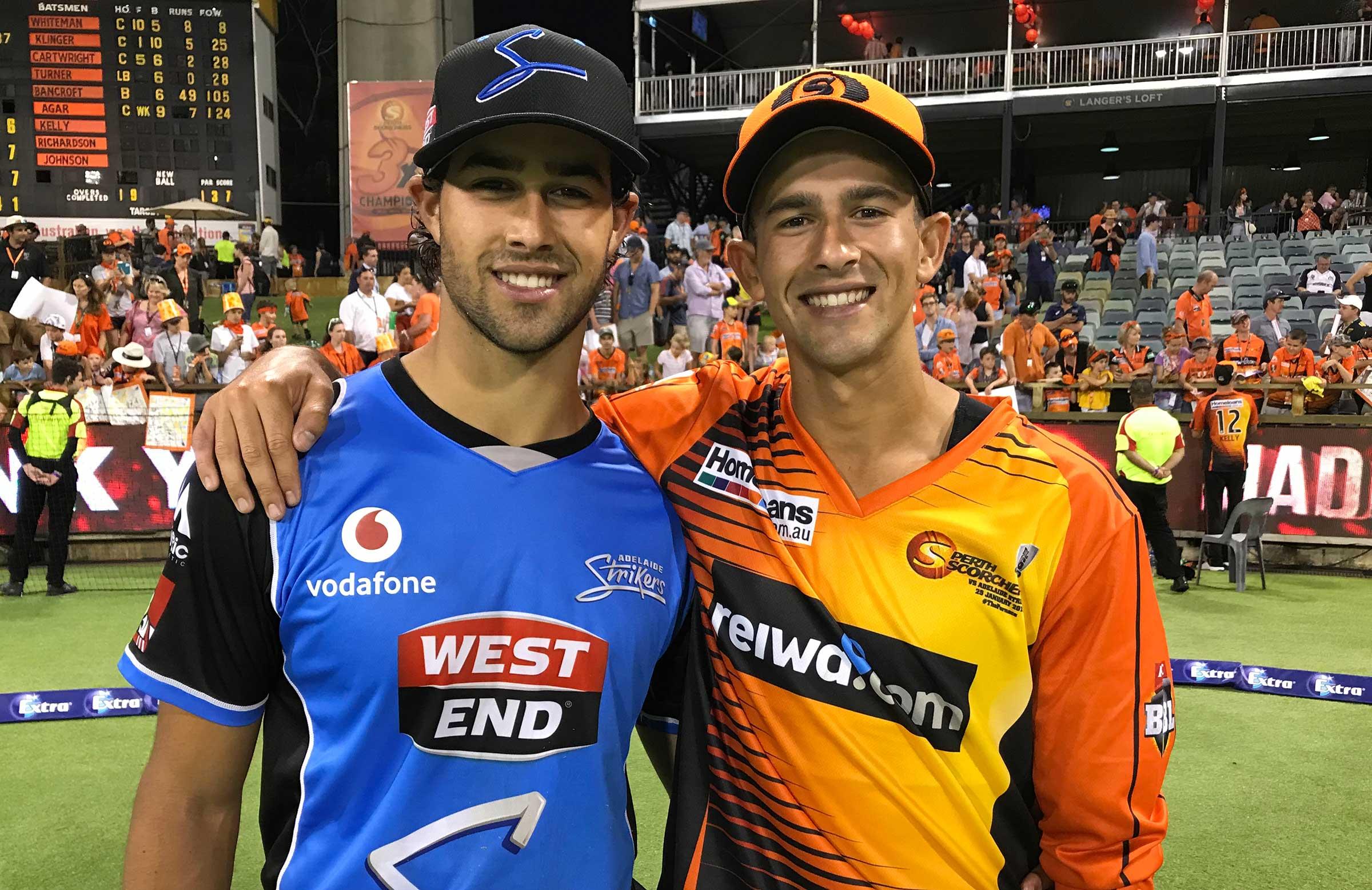 Wes and Ashton Agar at the WACA // cricket.com.au