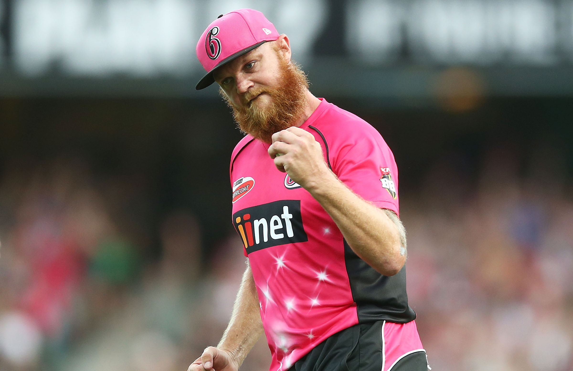 Bollinger celebrates a wicket for the Sixers in the BBL // Getty