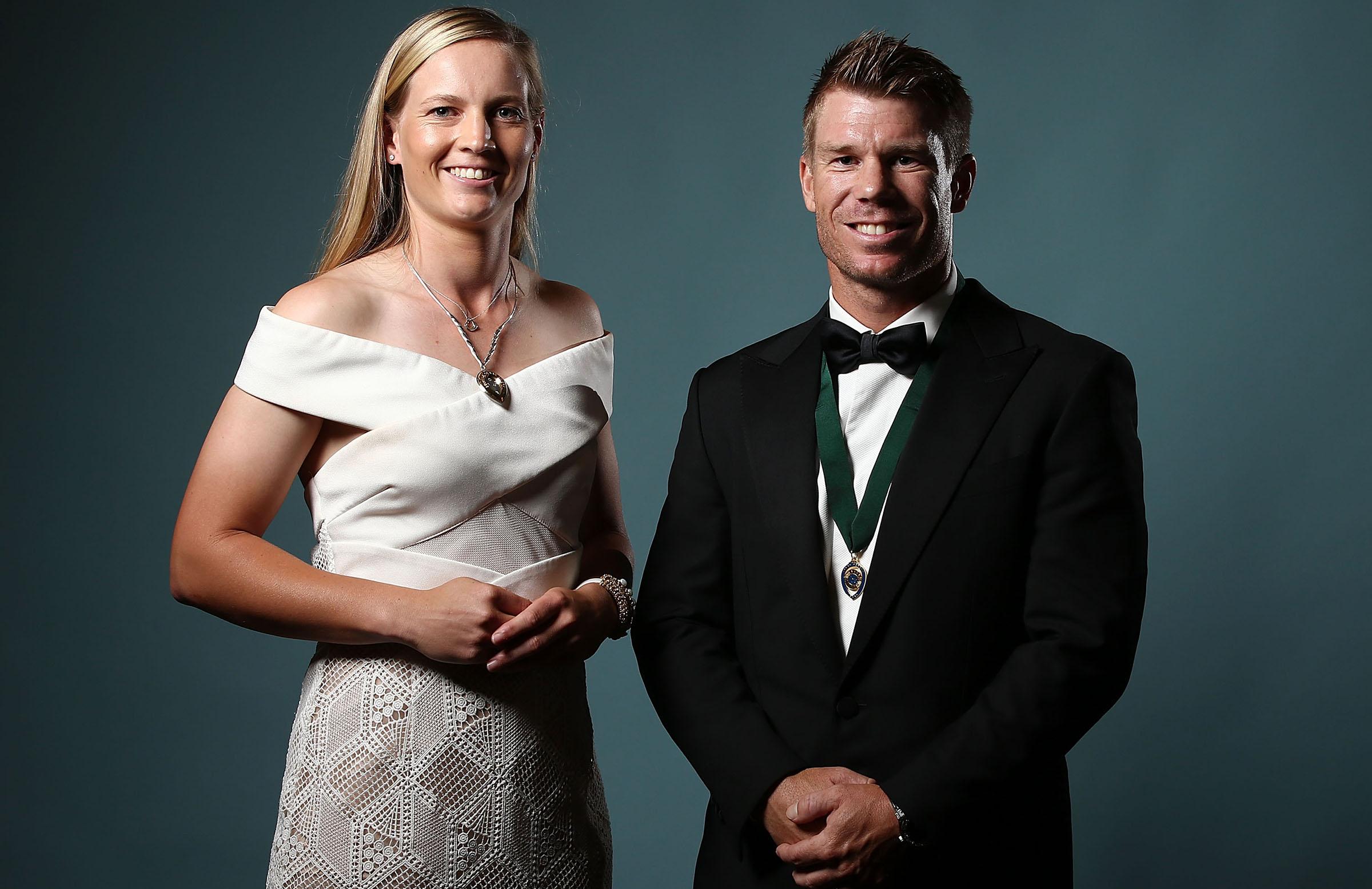 Meg Lanning and David Warner, the major winners in 2017 // Getty