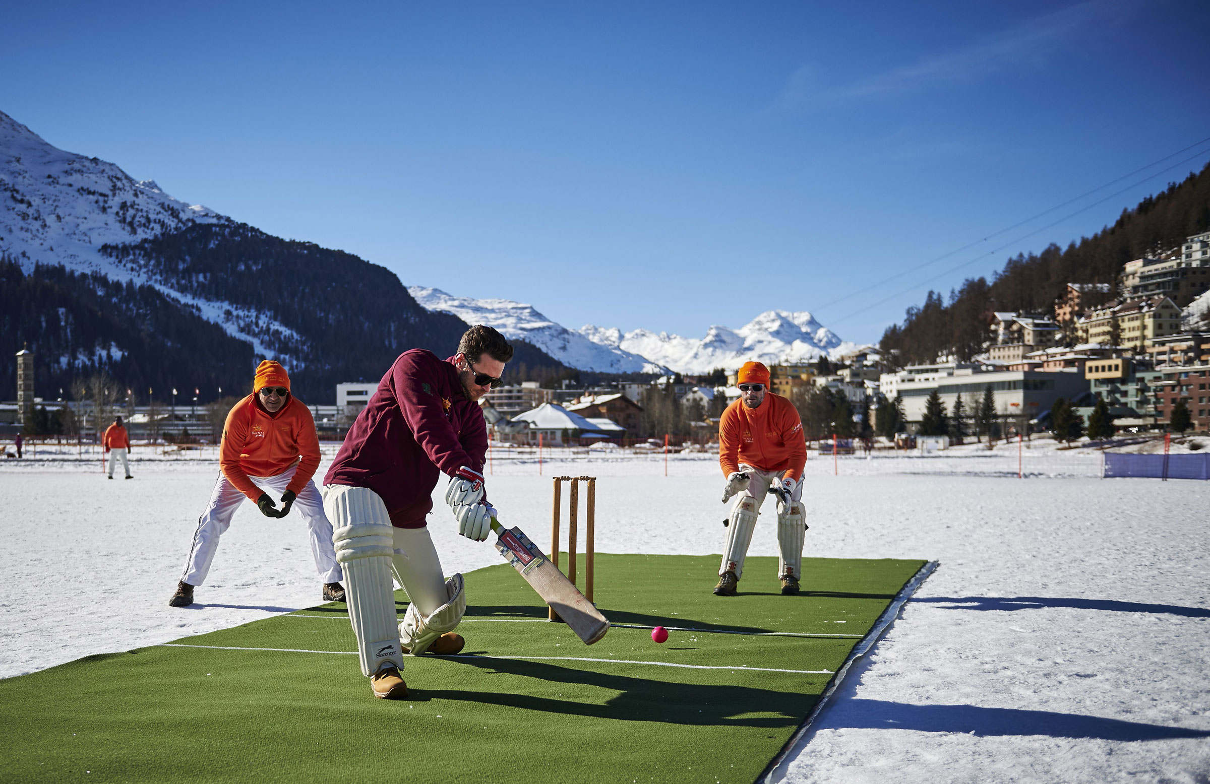 Ice cricket has been played in Switzerland for more than 25 years // Getty