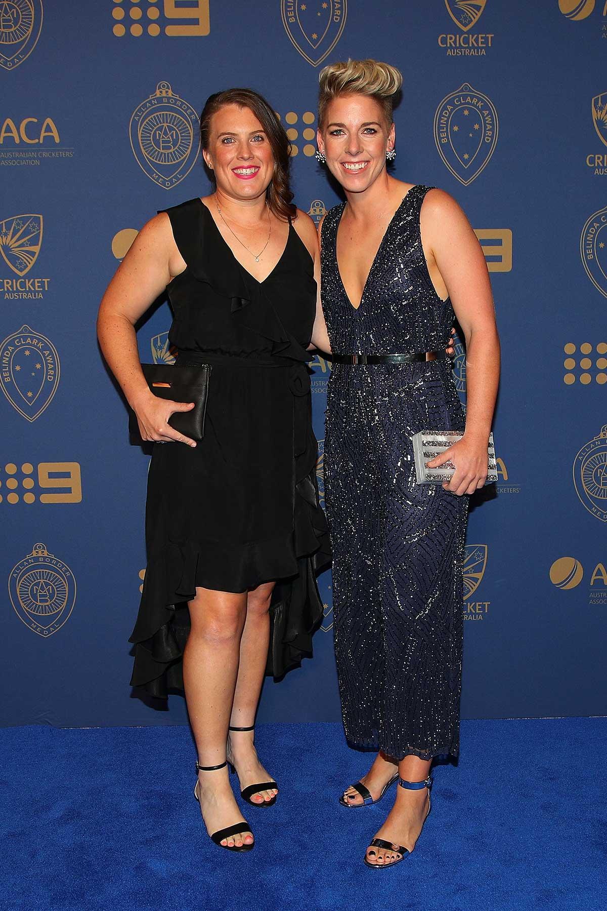Australia cricketer Elyse Villani and Lauren Morecroft // Getty