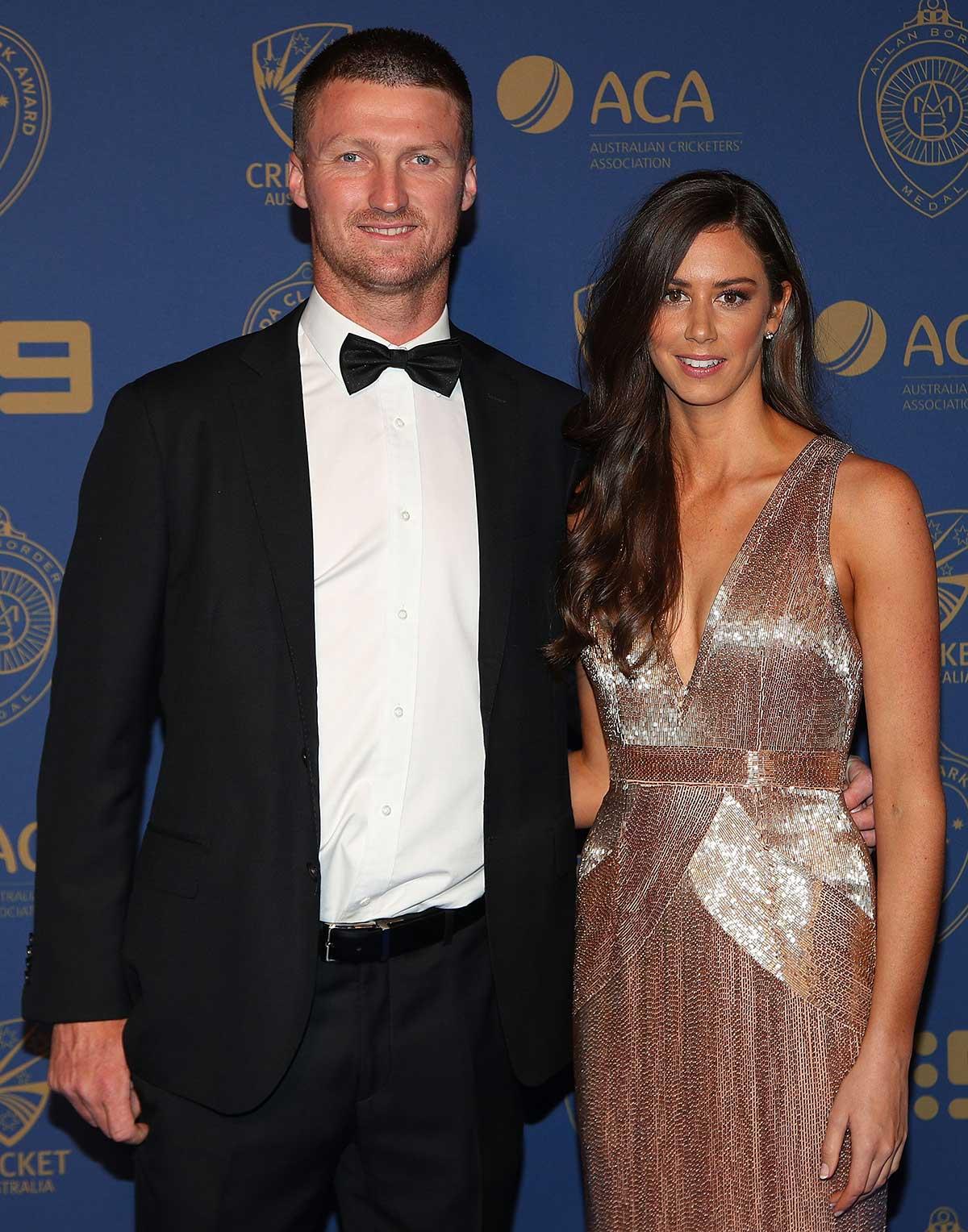 Australia bowler Jackson Bird and Scarlett Lennard // Getty
