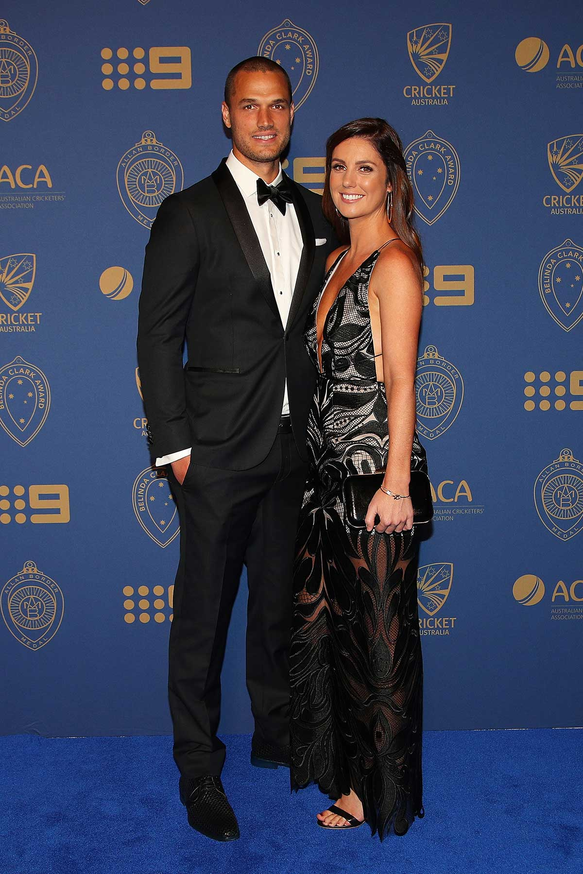 Nathan Coulter-Nile and partner Shani Blay // Getty