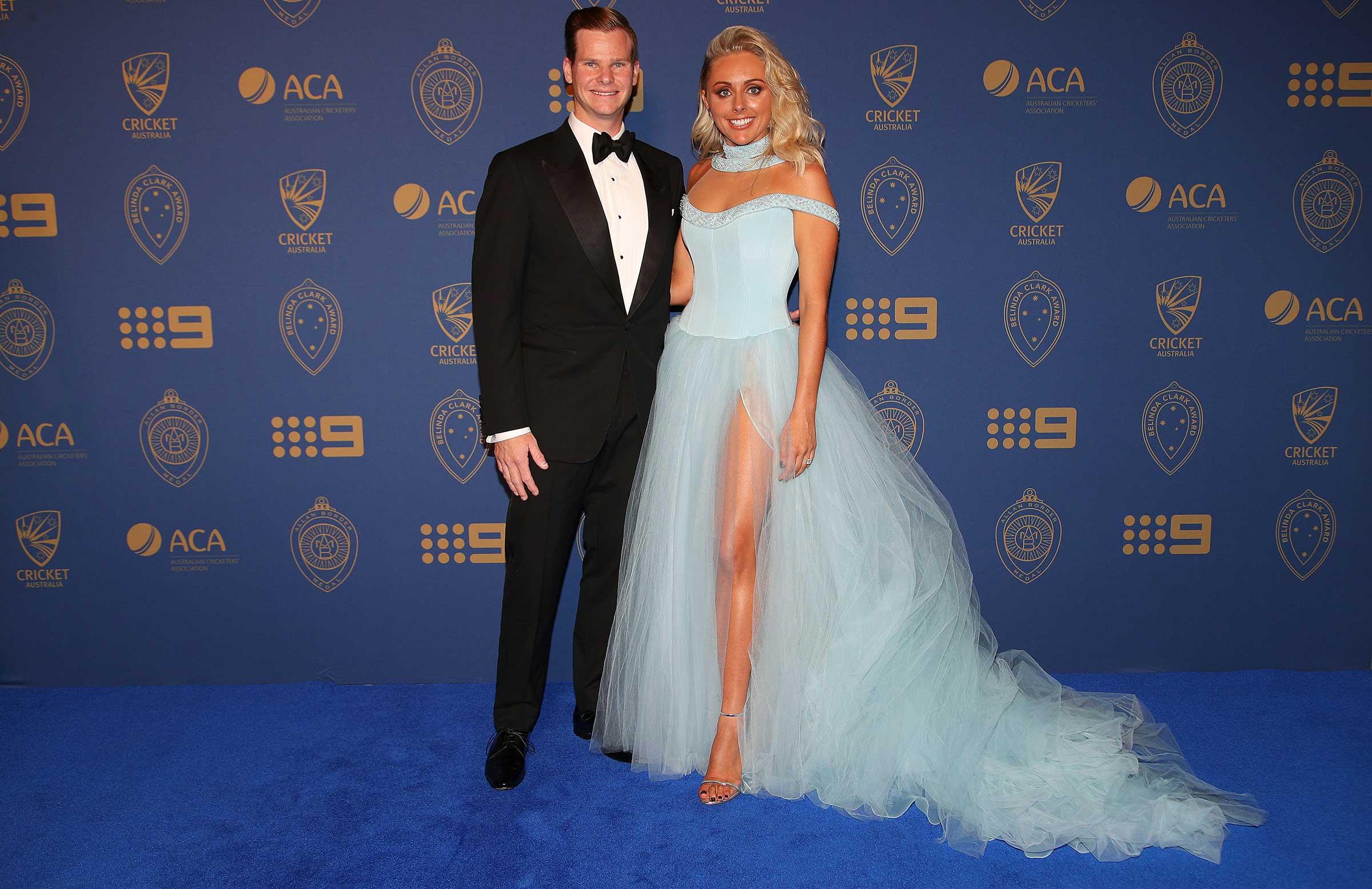 Australia captain Steve Smith and fiancée Dani Willis // Getty