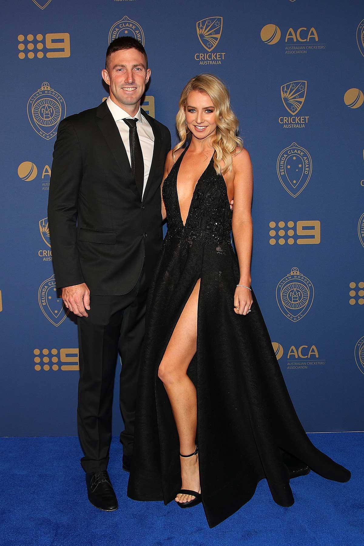 Shaun Marsh and wife Rebecca // Getty
