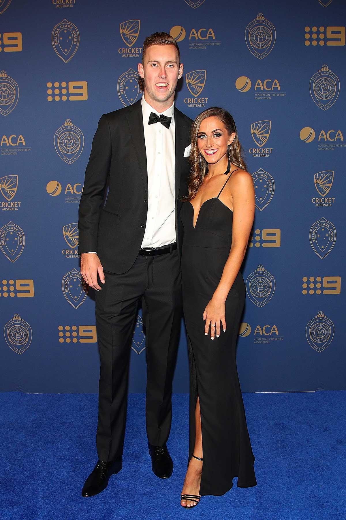 Aussie bowler Billy Stanlake and Maddison Lochert // Getty