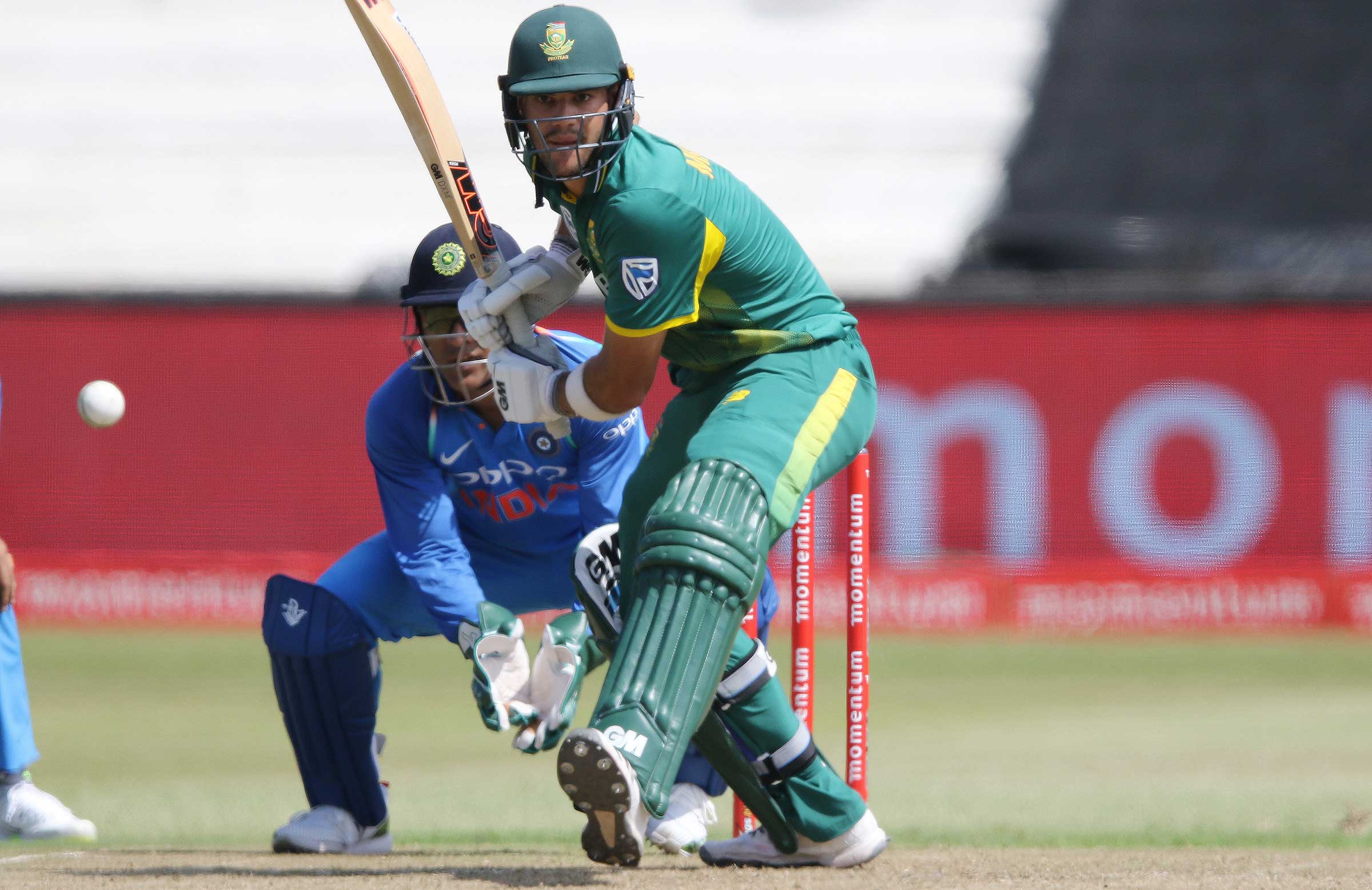 Markram bats against India in the first ODI // Getty