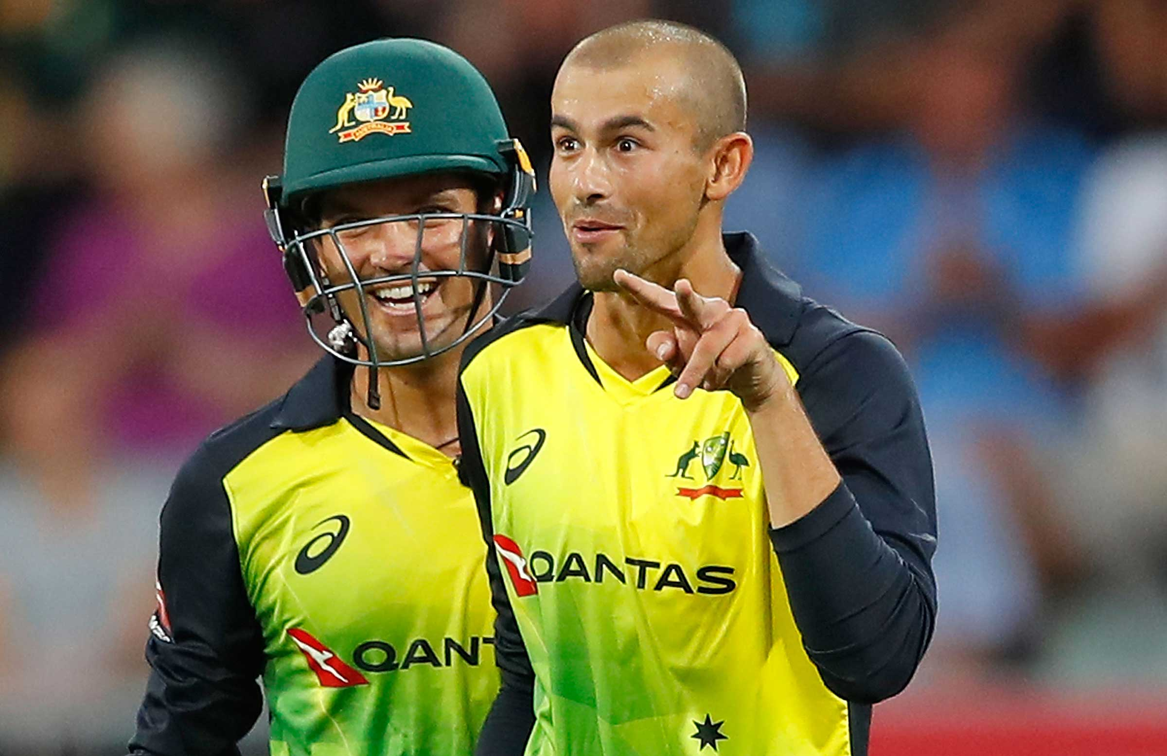 Agar reacts after catching Hales out // Getty
