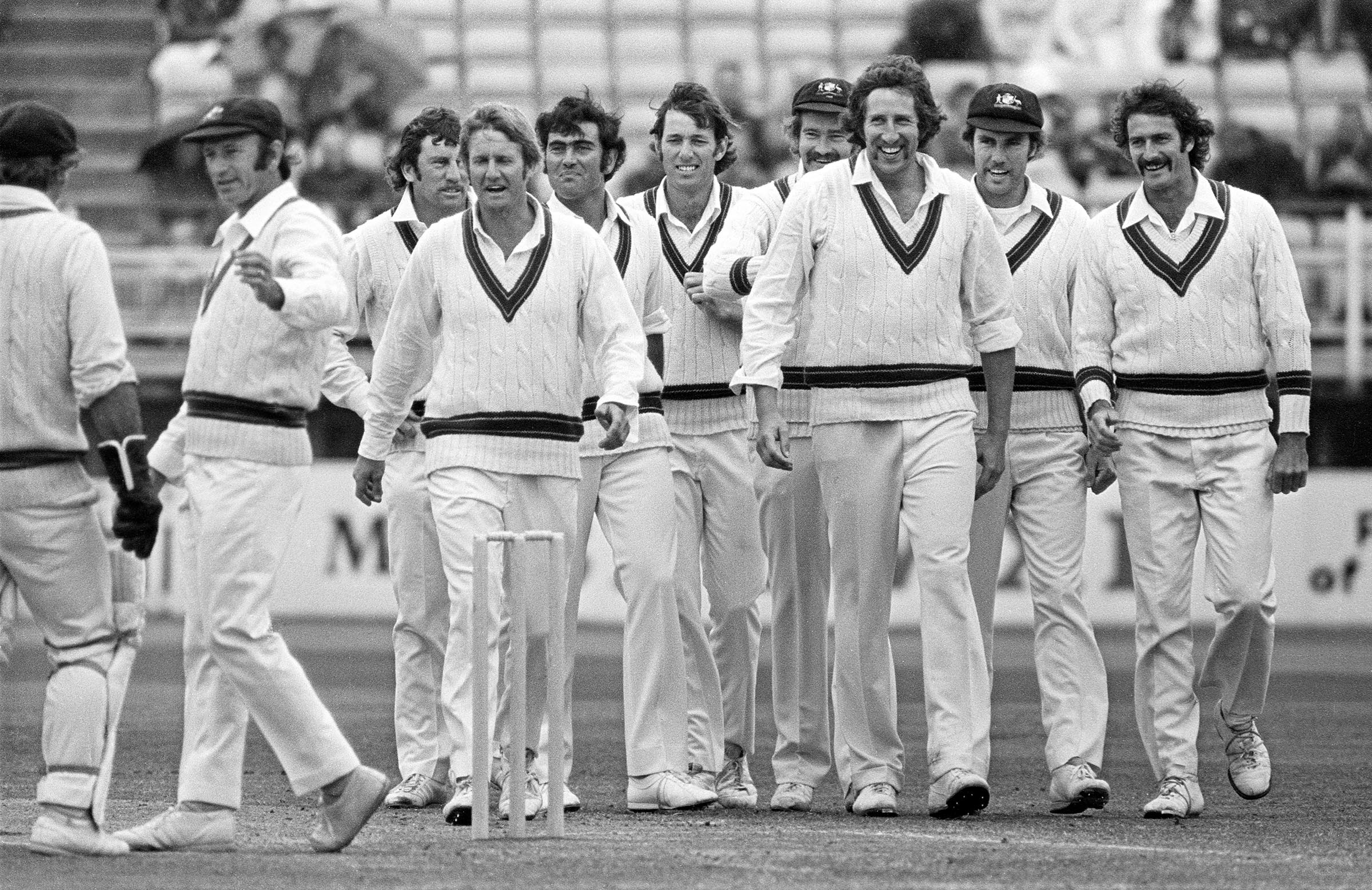 Australia's Test team in 1975 (McCosker fifth from right) // Getty