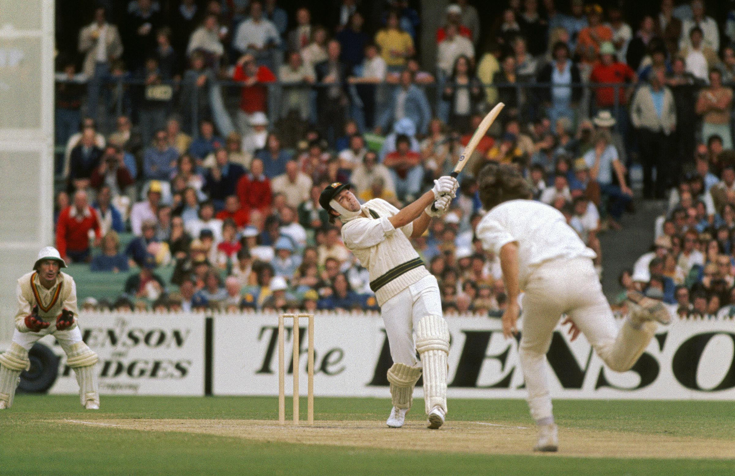 McCosker goes on the attack in the '77 Centenary Test // Getty
