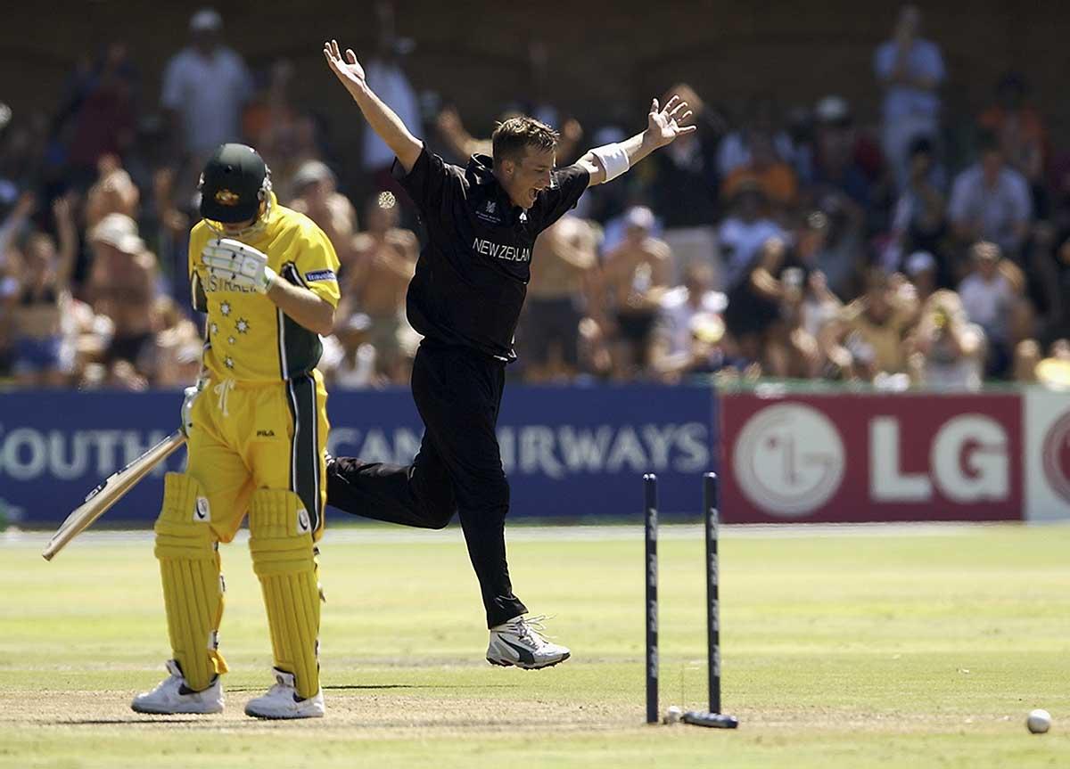 Bond ran through the Aussies at the 2003 World Cup // Getty