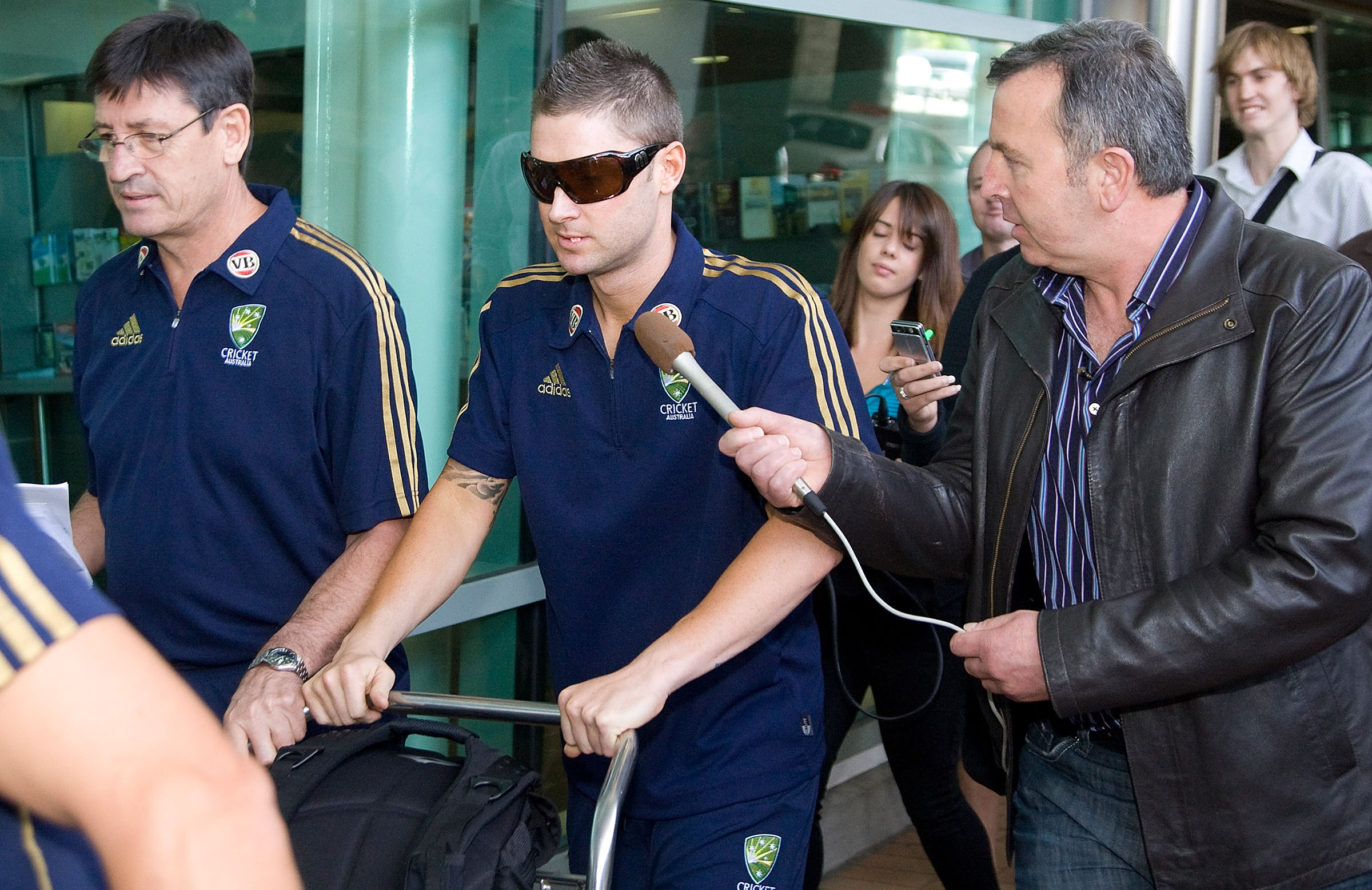 Clarke at Wellington airport in 2010 // Getty