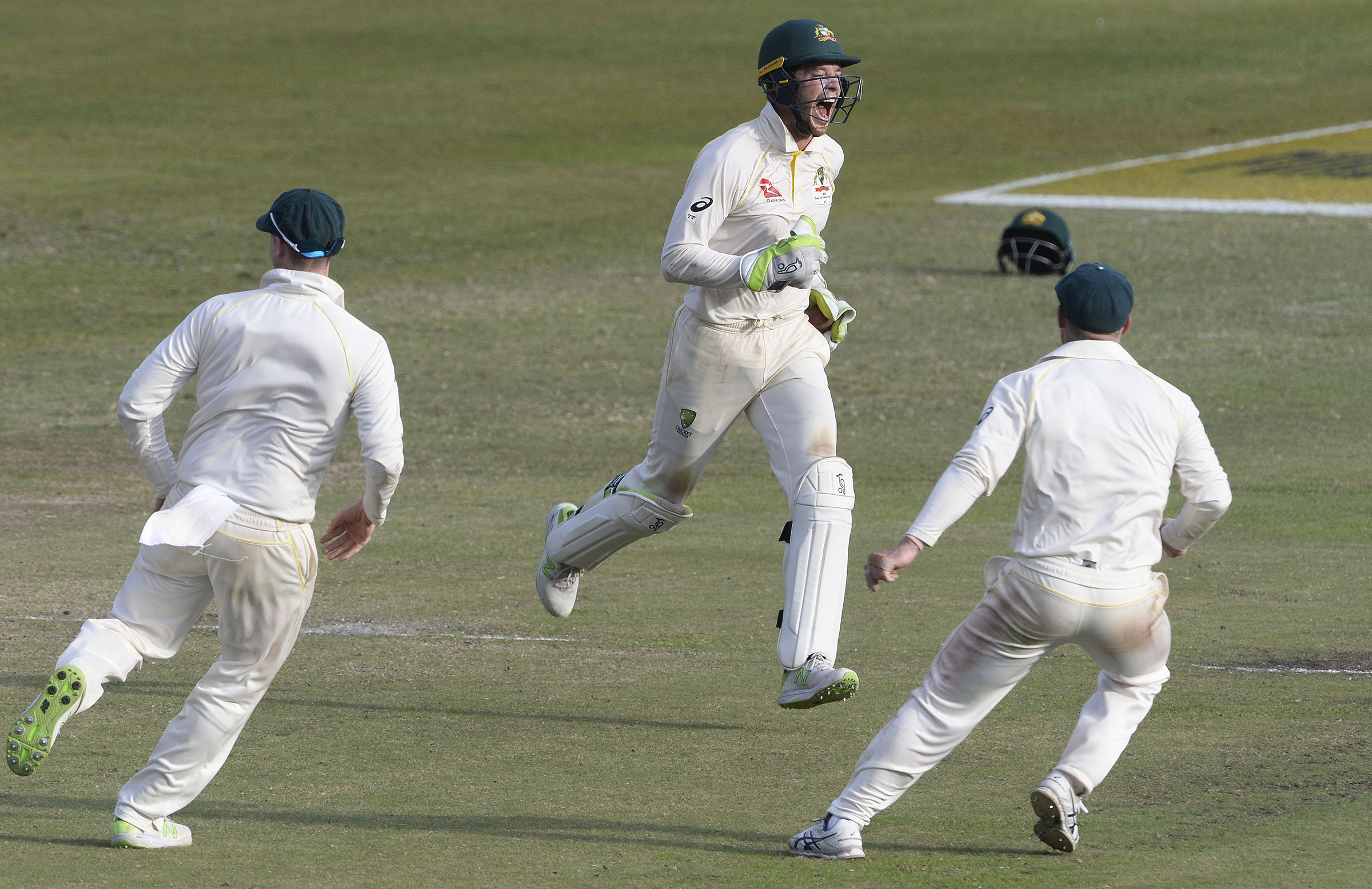 Paine celebrates a catch at Kingsmead in the first Test // Getty