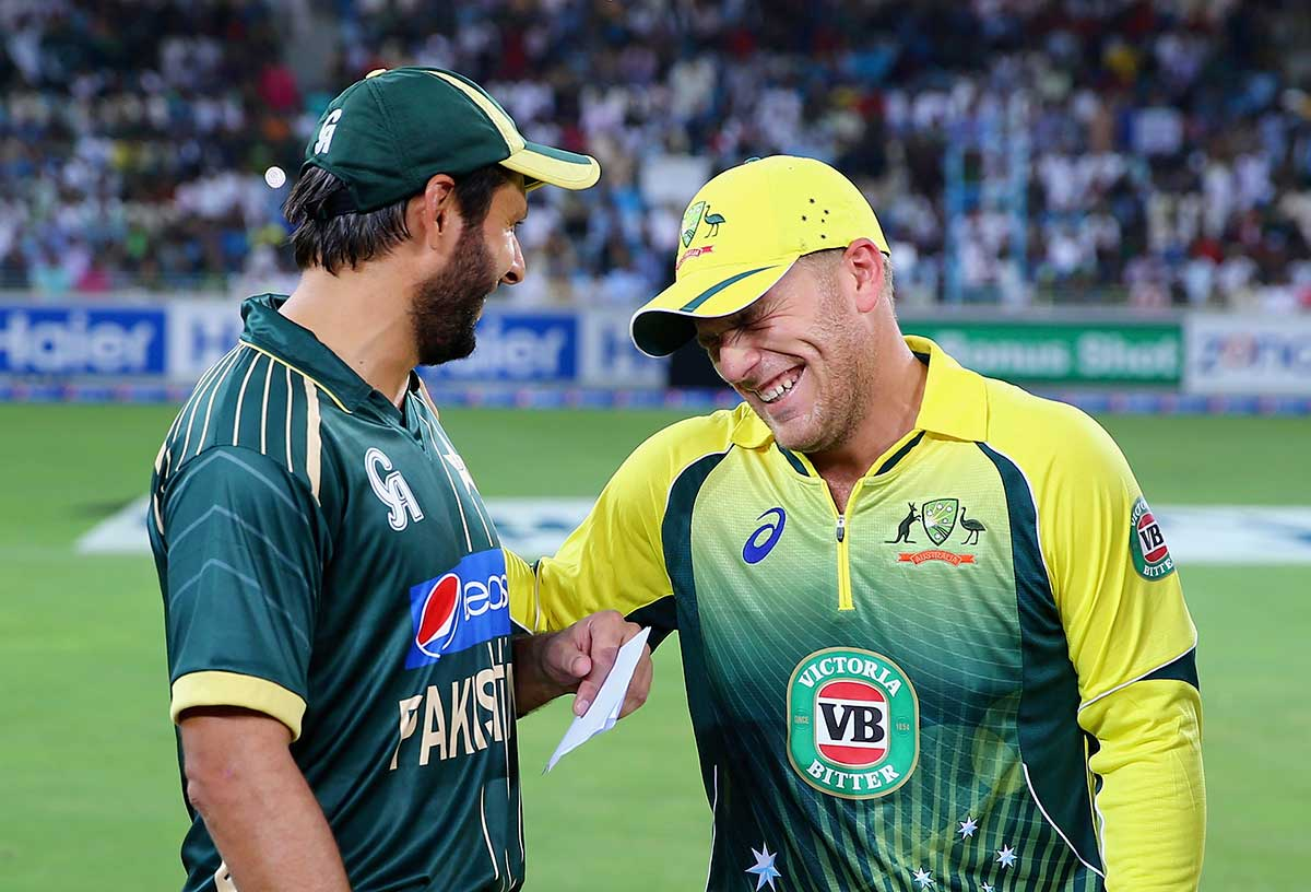 Finch first captained Australia v Pakistan in 2014 // Getty