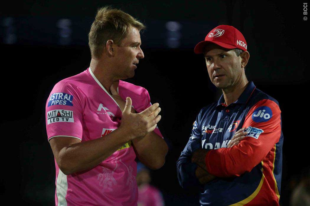 Shane Warne and Ricky Ponting are coaching in the IPL // BCCI
