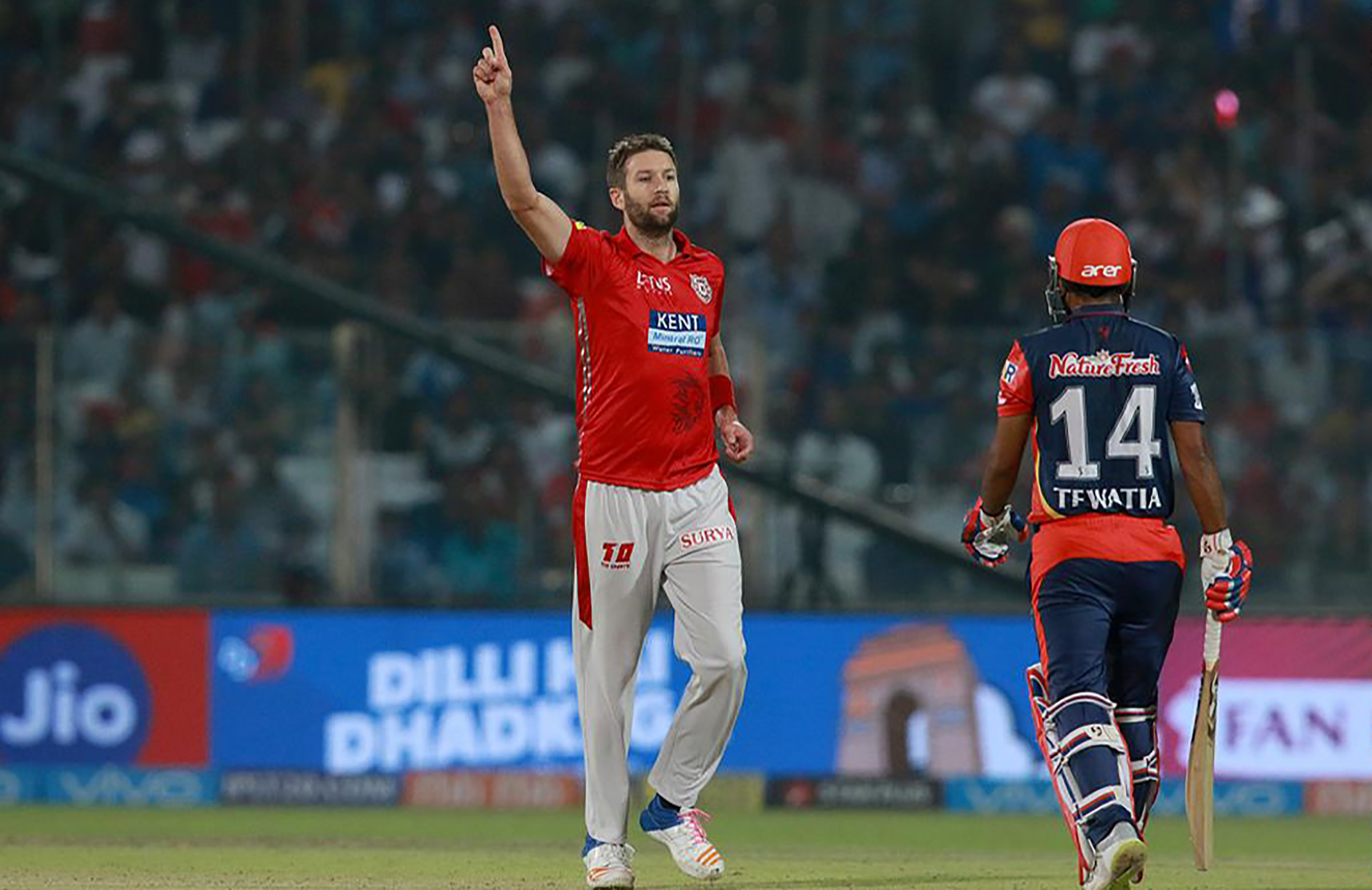 Andrew Tye sits atop the leading wicket-takers charts with 9 // BCCI