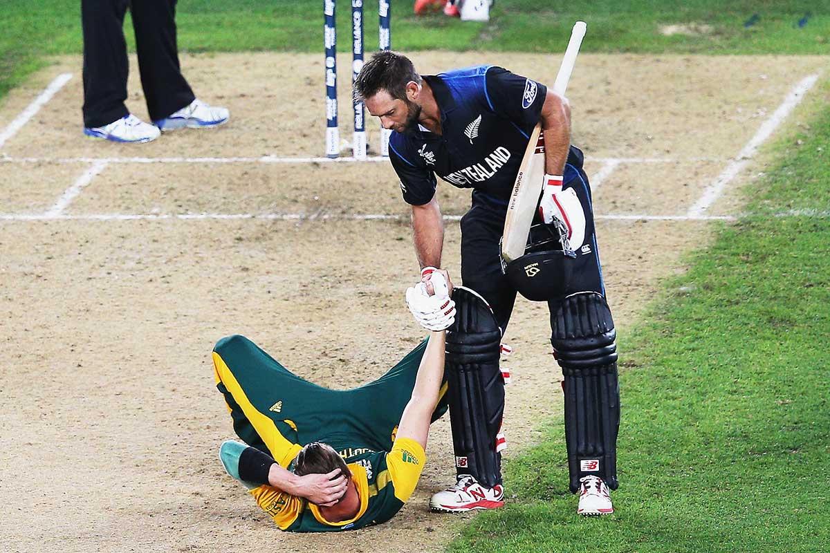 Elliott and Steyn at the 2015 World Cup semi-final // Getty