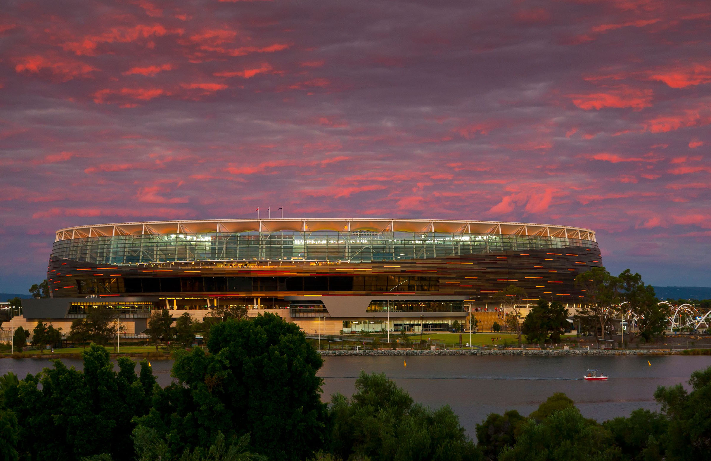 The new Perth Stadium will host it's first Test in December // Getty