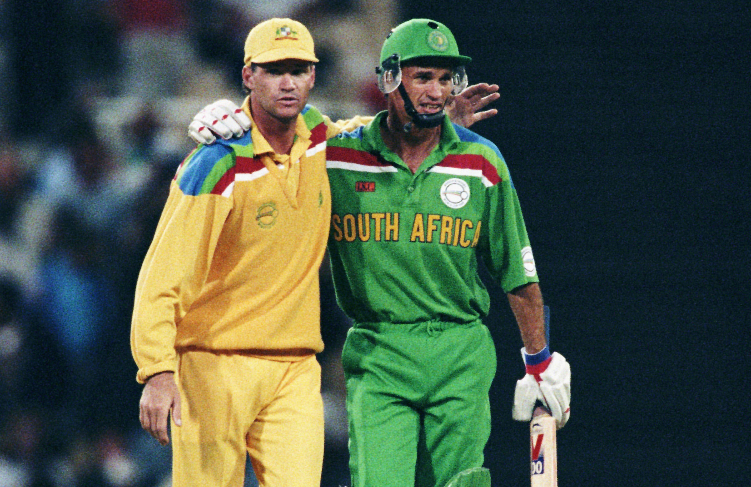 Dean Jones and Kepler Wessels at the 1992 World Cup // Getty