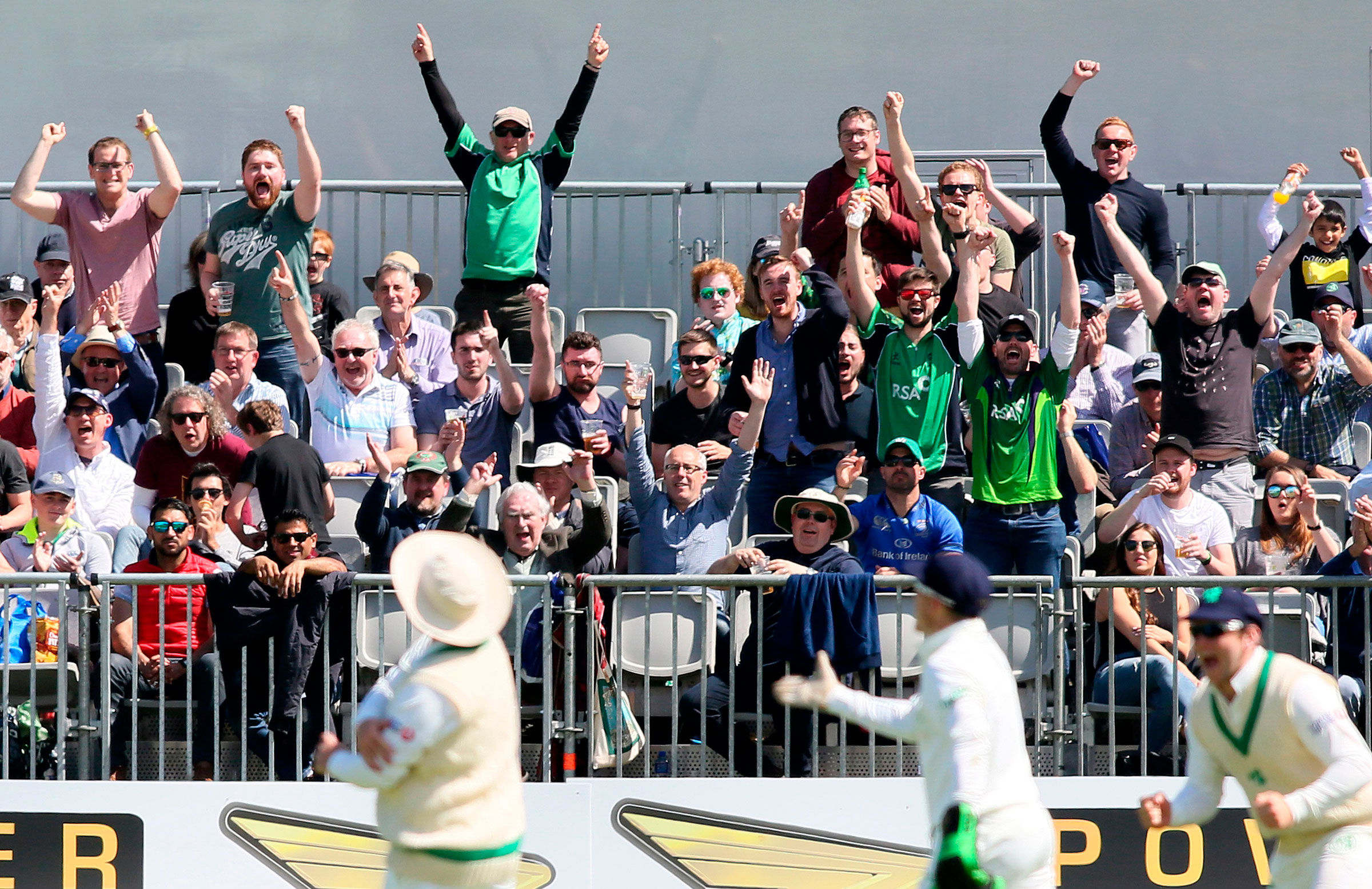 A vocal crowd enjoyed Ireland's historic day // Getty