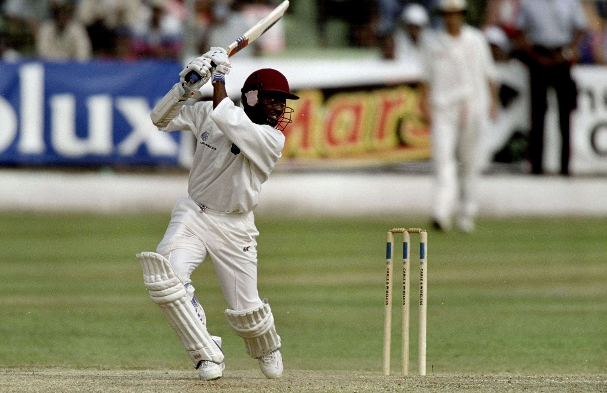 Lara hammered 19 fours at Kensington Oval // Getty