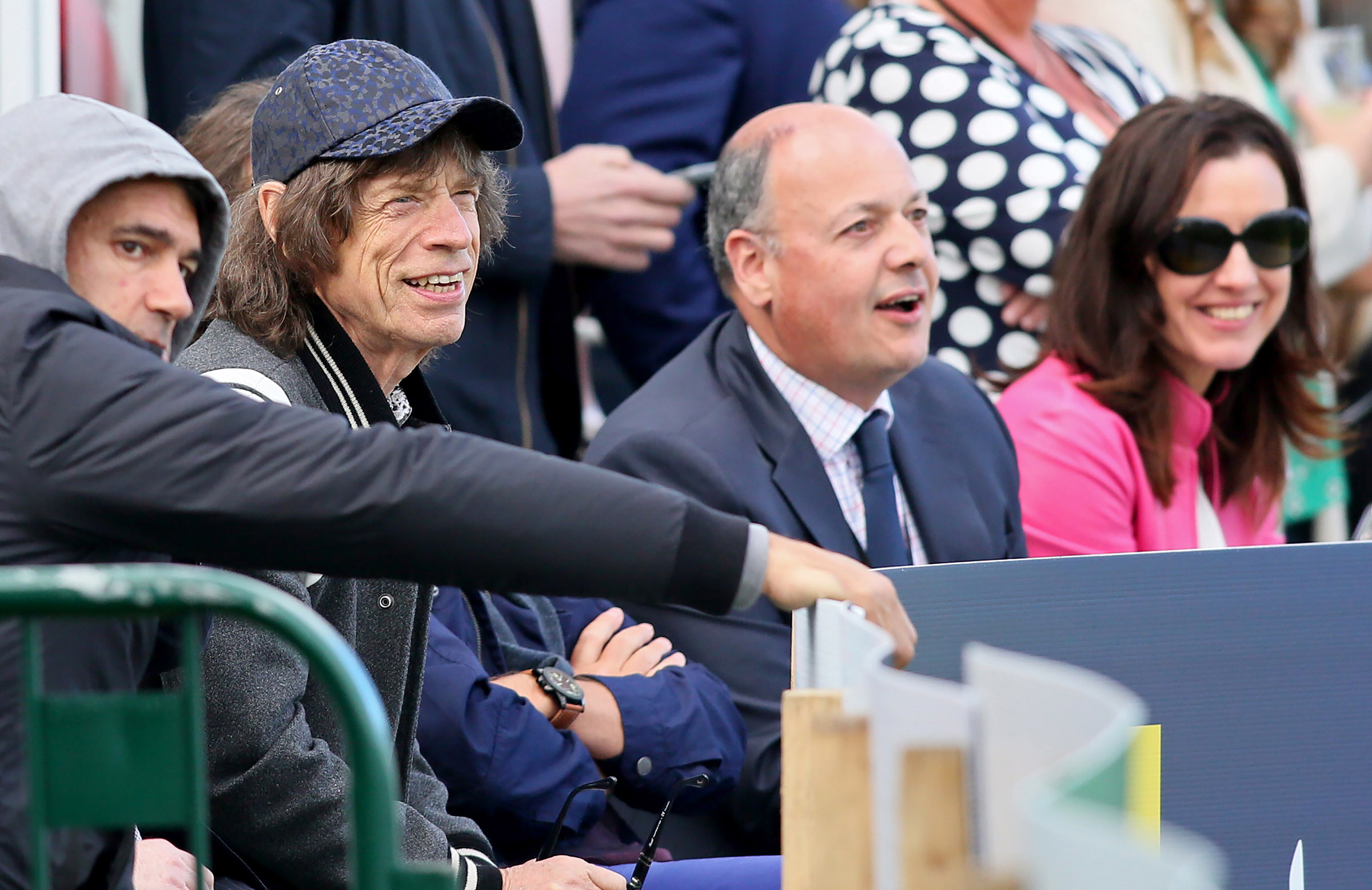 Music icon Mick Jagger in the crowd // Getty