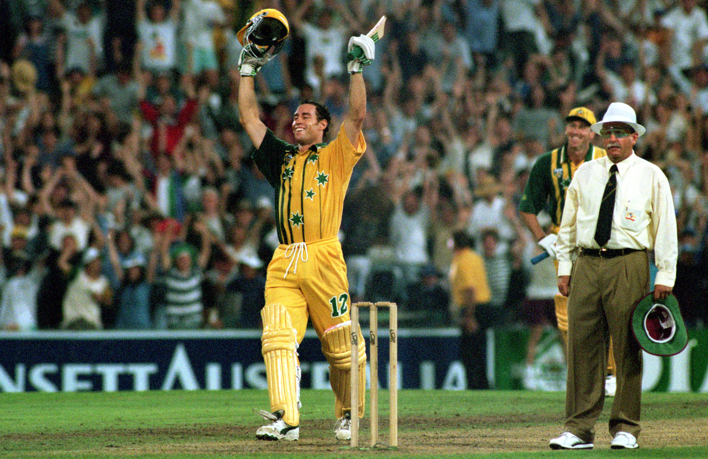 Bevan celebrates at the SCG erupts // Getty