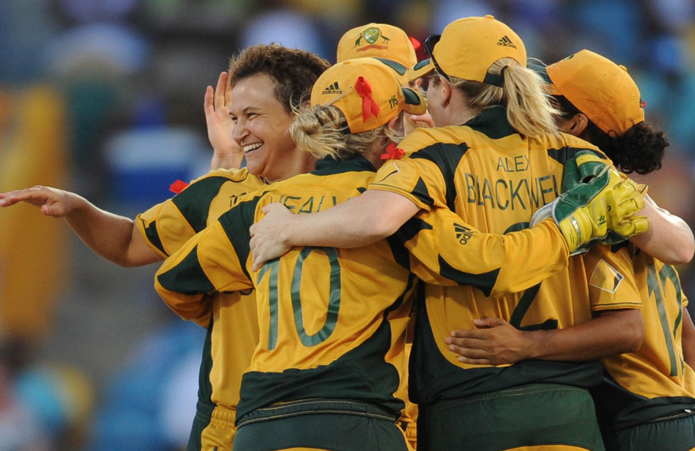 Shelley Nitshcke celebrates a wicket // Getty