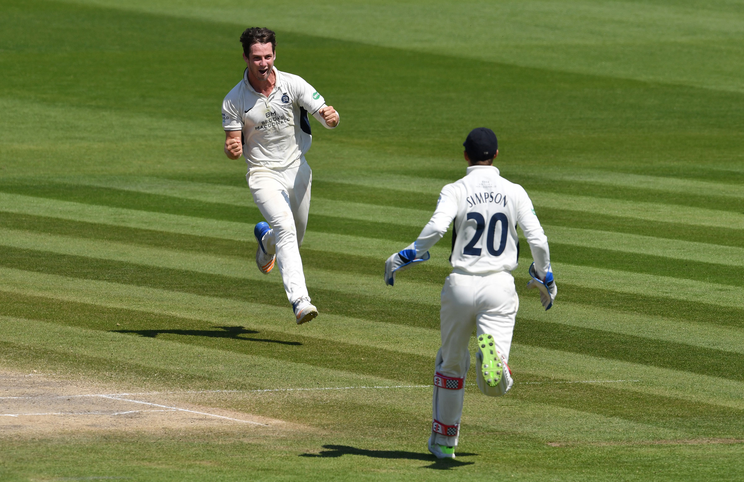Cartwright celebrates a wicket for Middlesex // Getty