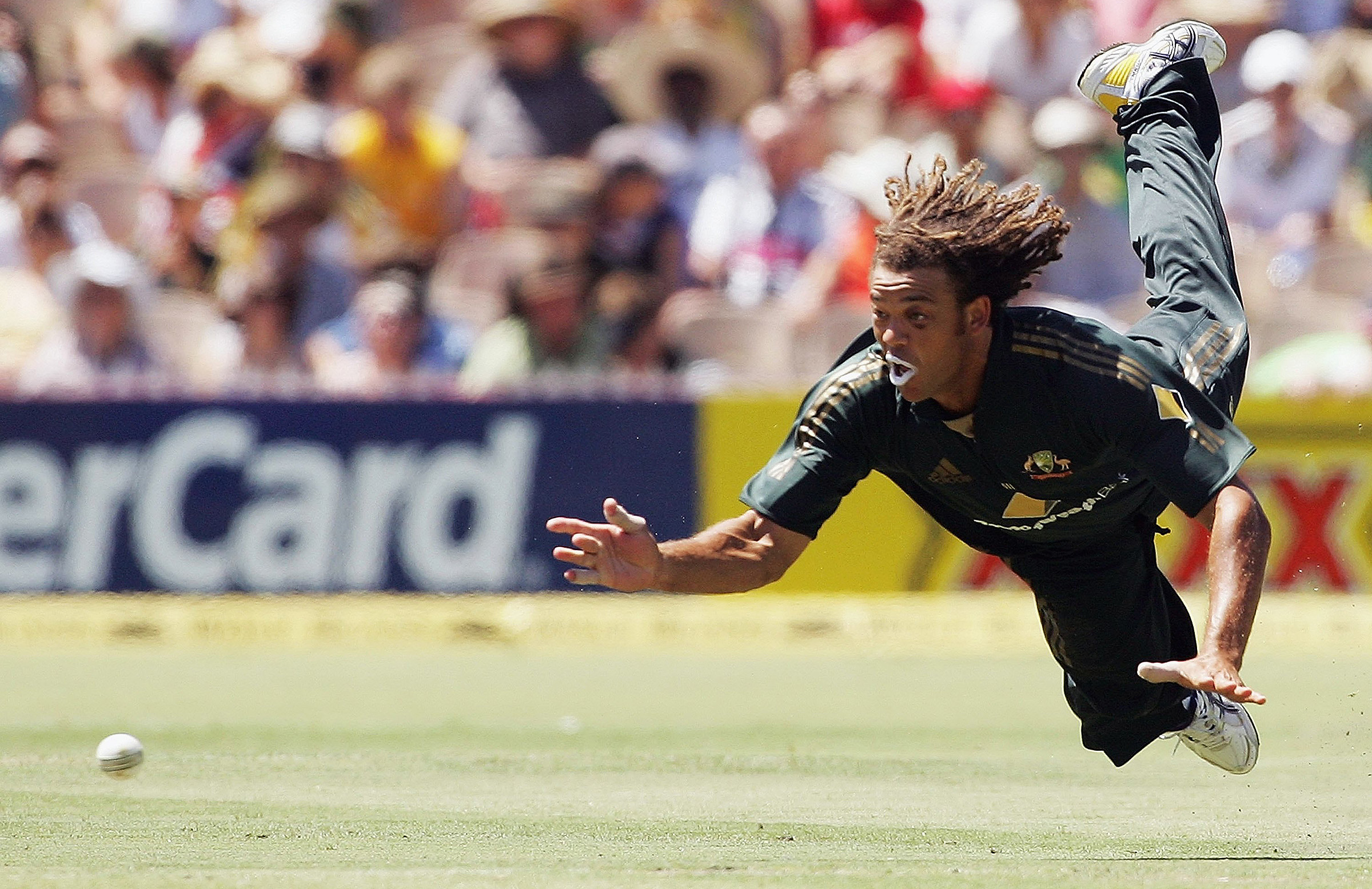 Symonds threw everything into his fielding // Getty