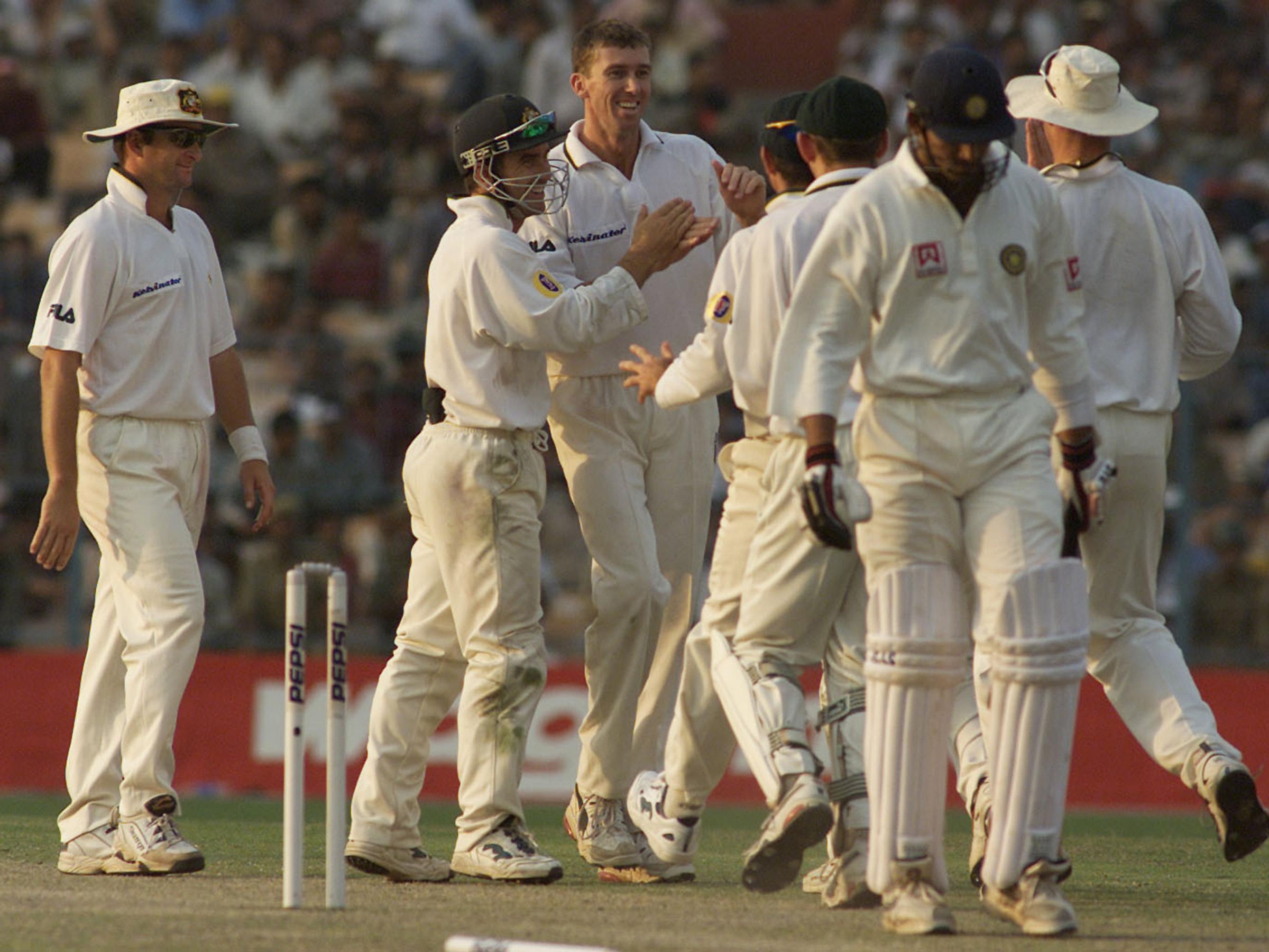 McGrath and Australia dominated the start of the Kolkata Test // Getty