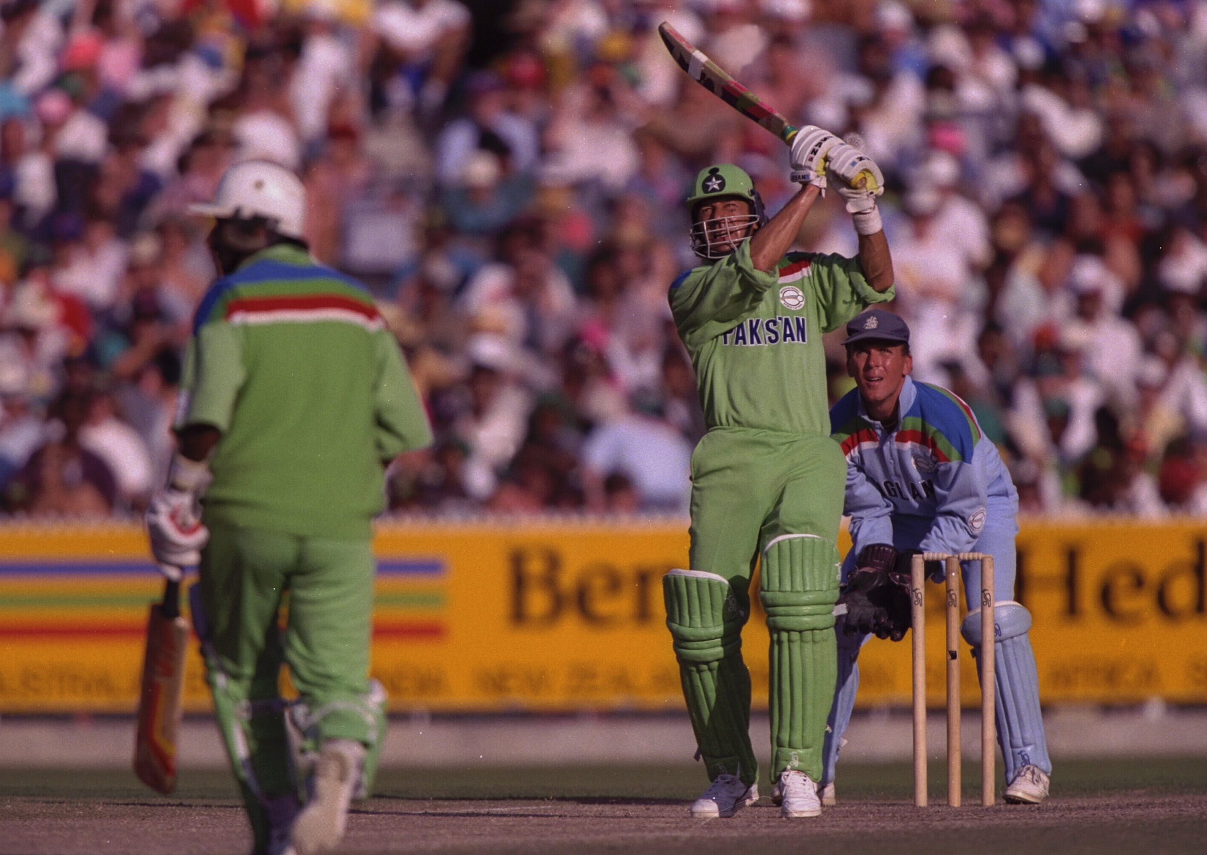 Imran goes over the top in the final against England // Getty