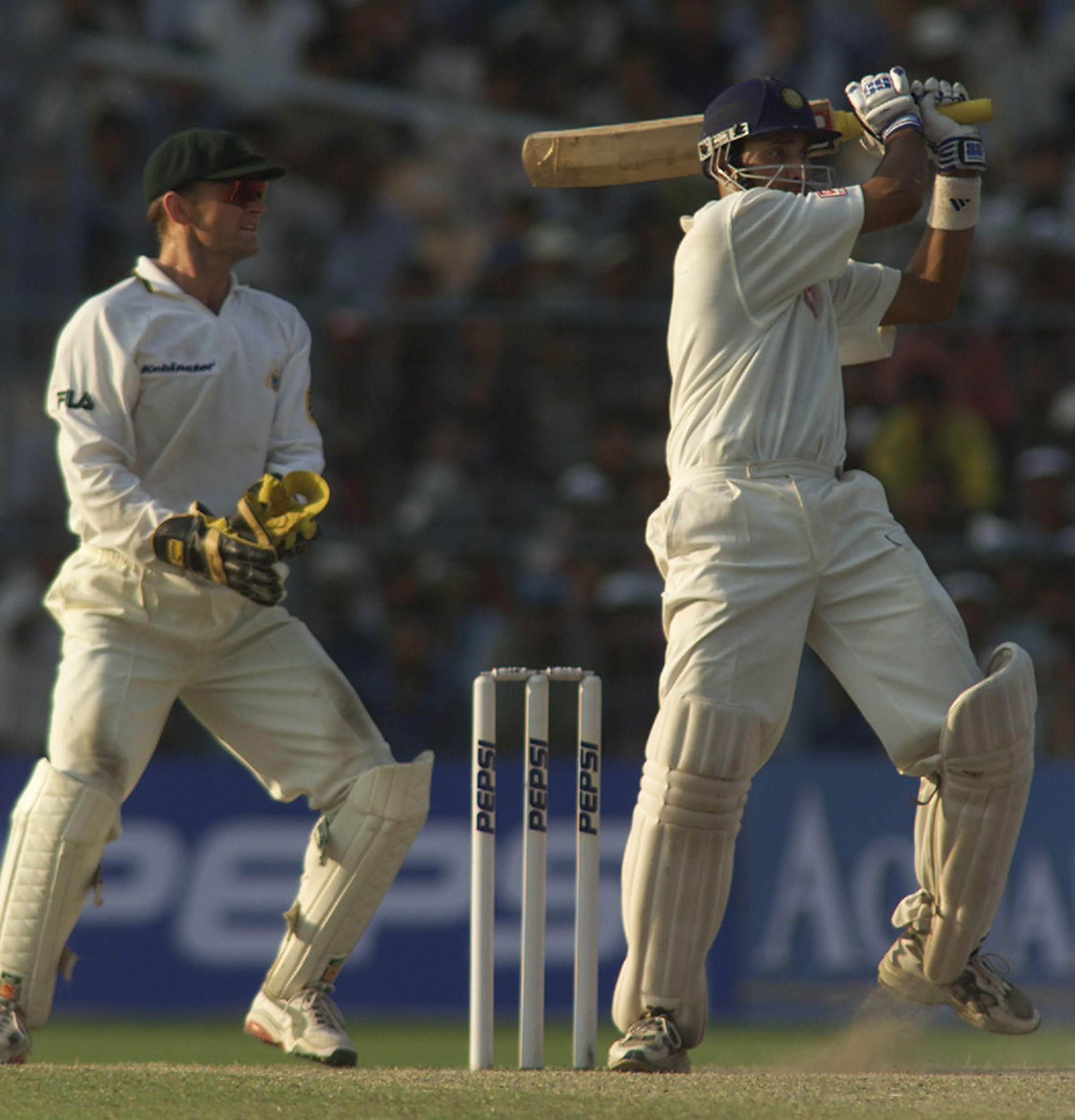 Laxman pulls during his epic 281 // Getty