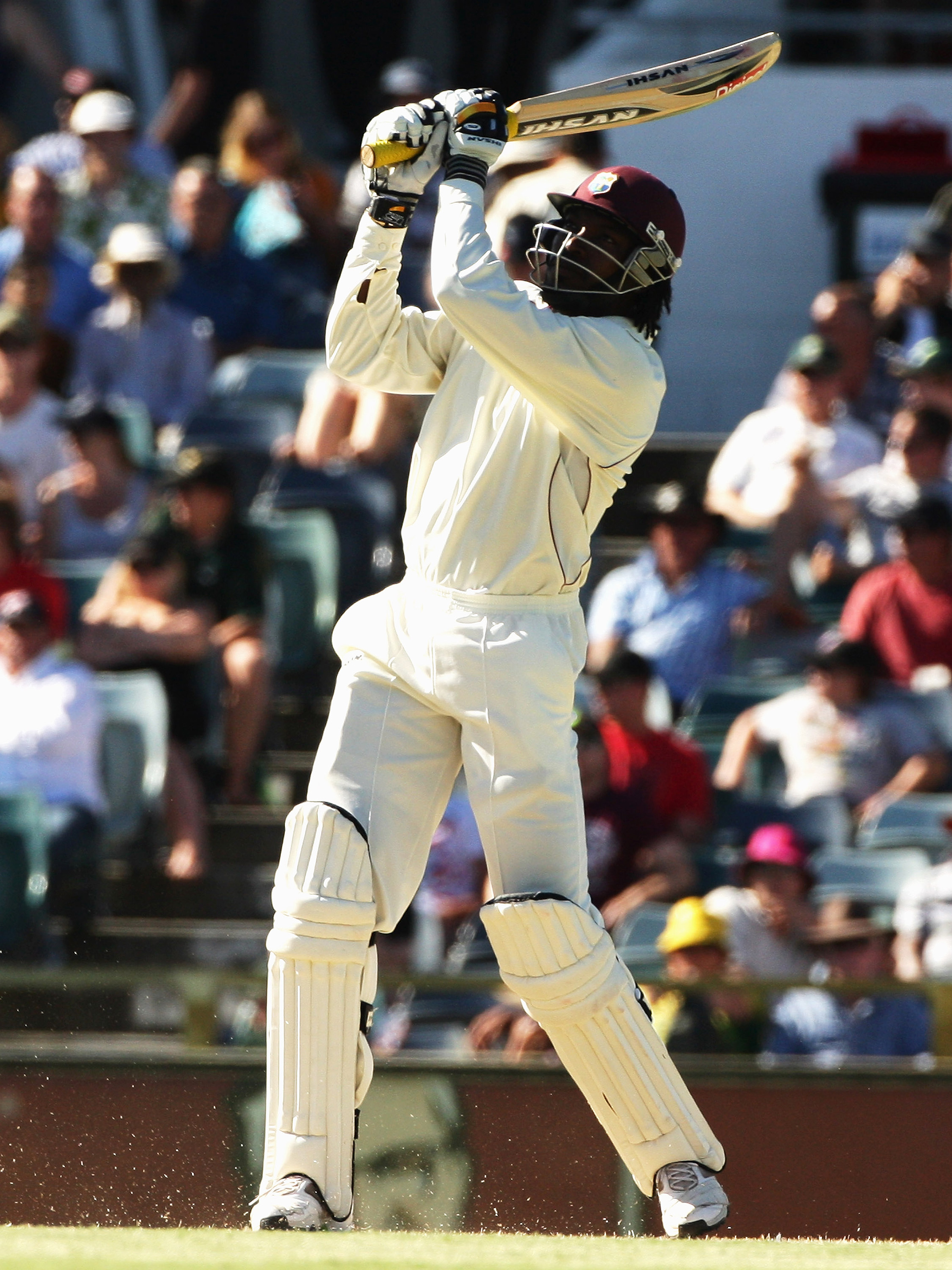 Gayle launches a bomb at the WACA // Getty