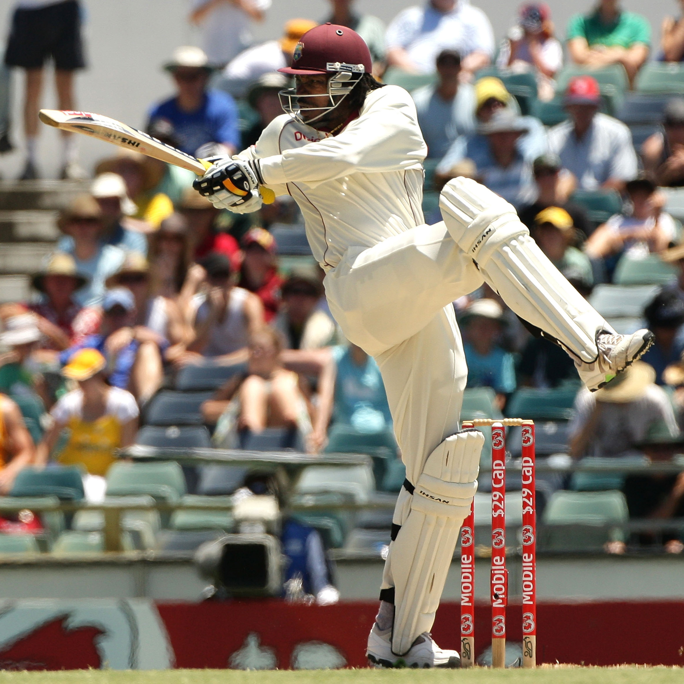 Gayle scored contrasting centuries against Australia in 2009 // Getty