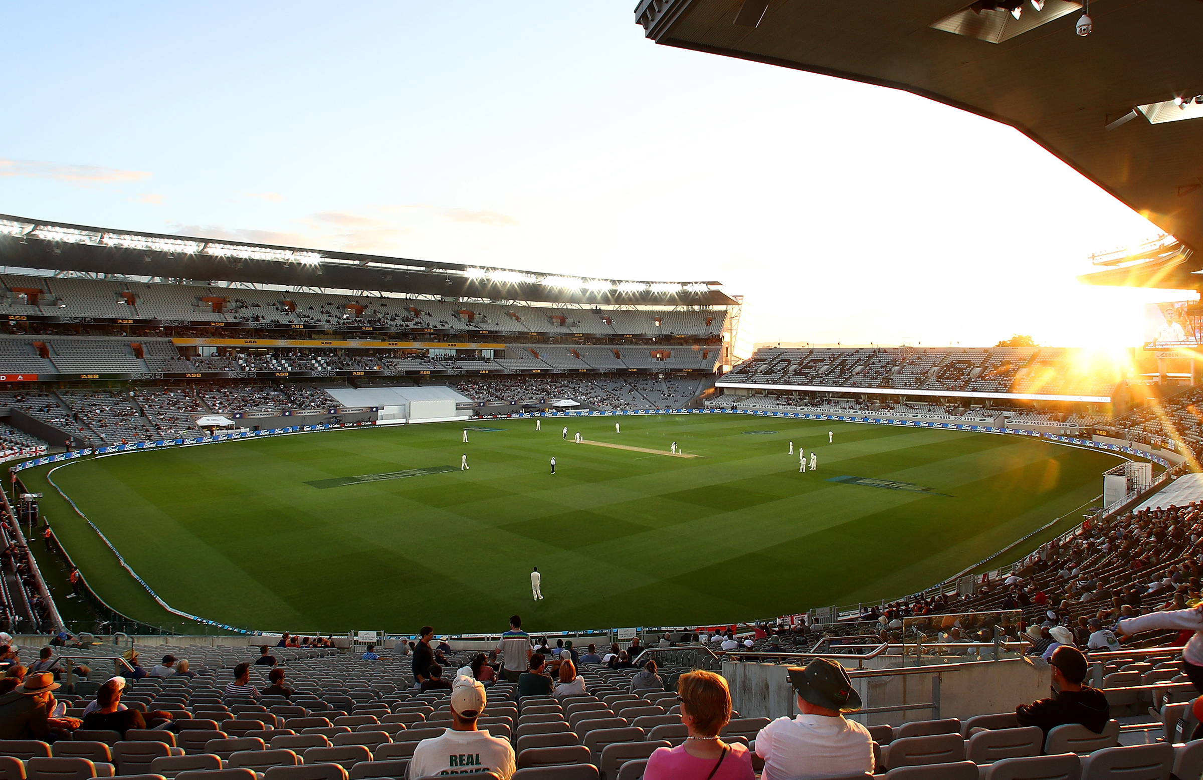 Eden Park hosted NZ's first day-night Test in March // Getty